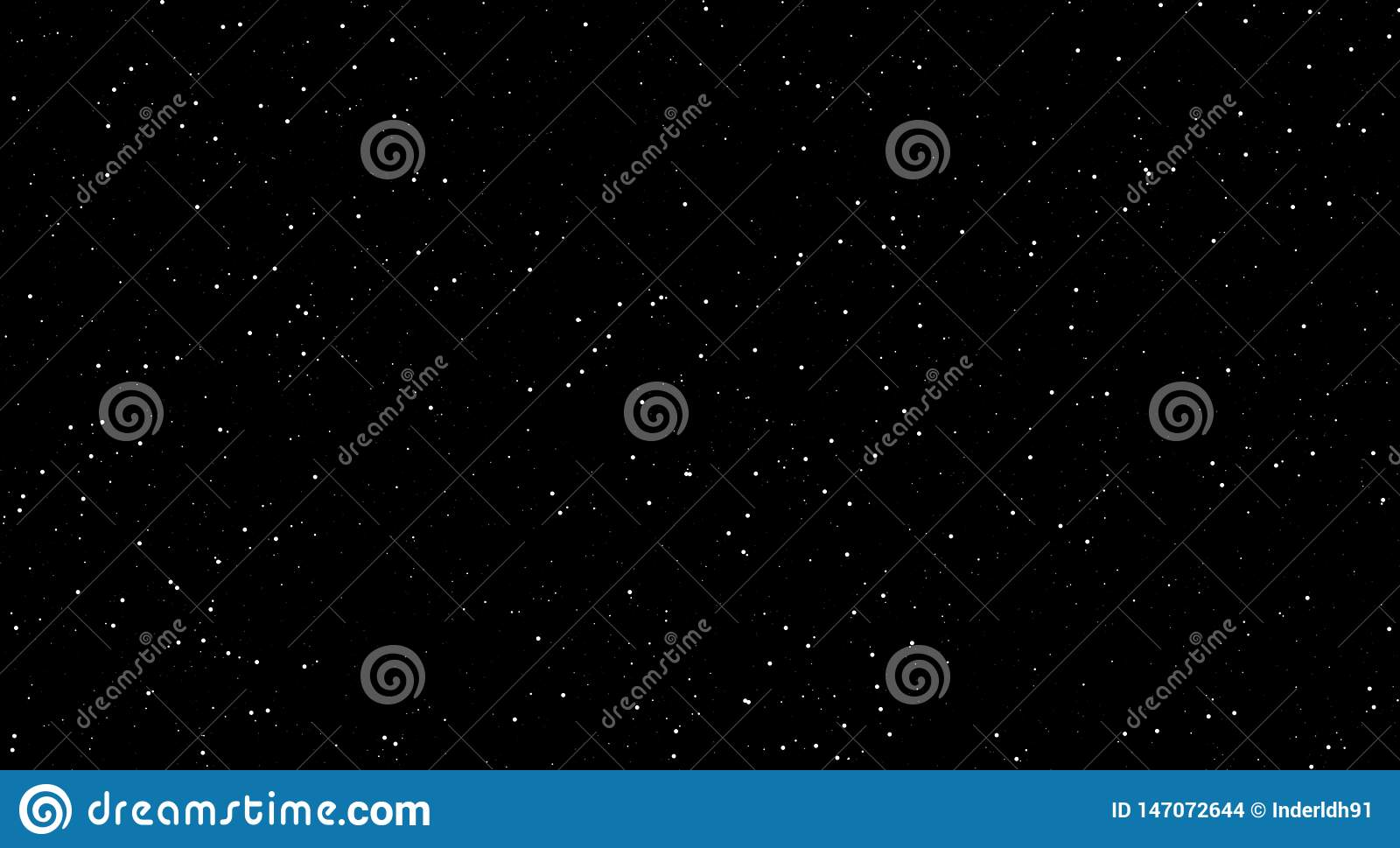 As cenas da noite, brilhando protagonizam na noite, fundo preto com estrelas brilhantes noite impressionante