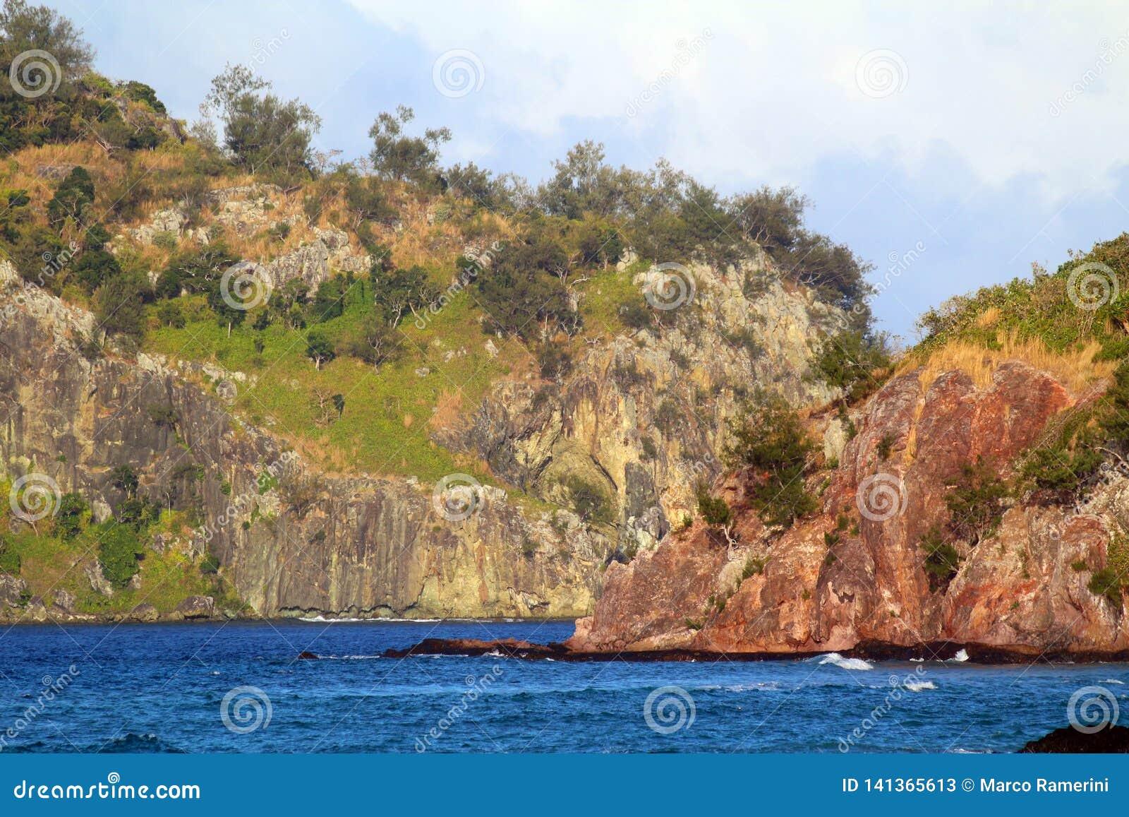 As costas de uma ilha tropical, Fiji