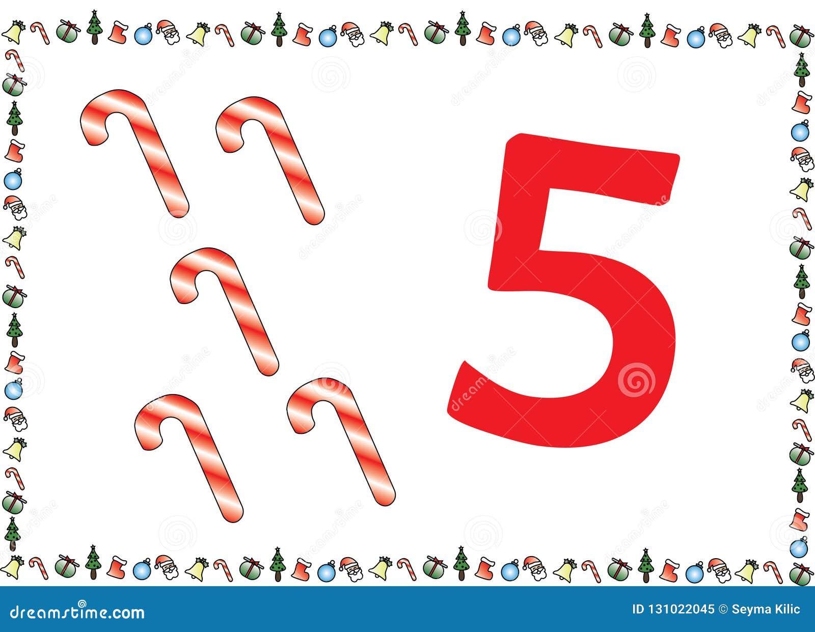 As crianças temáticos do Natal numeram as séries 5