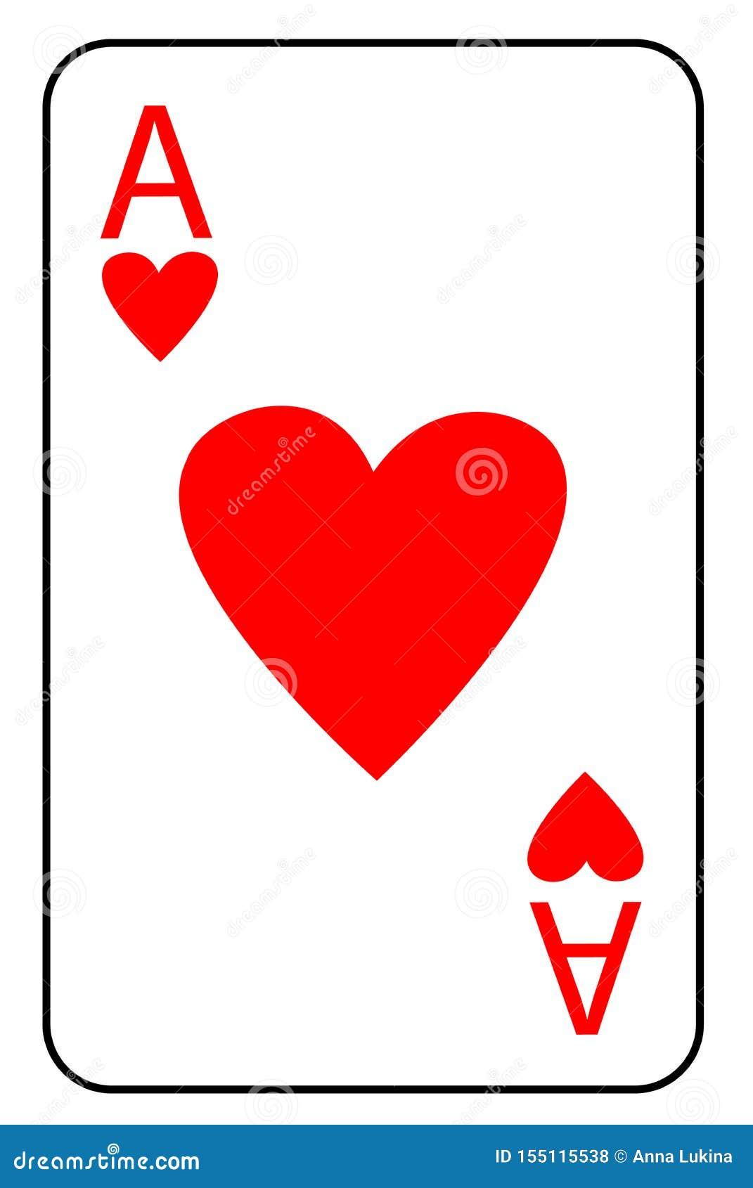 As De Carte De Jeu Des Coeurs Dans La Couleur Rouge Pour Des Jeux De Casino Ou De Carte Un Symbole De La Bonne Chance Et Du Gain Illustration Stock Illustration