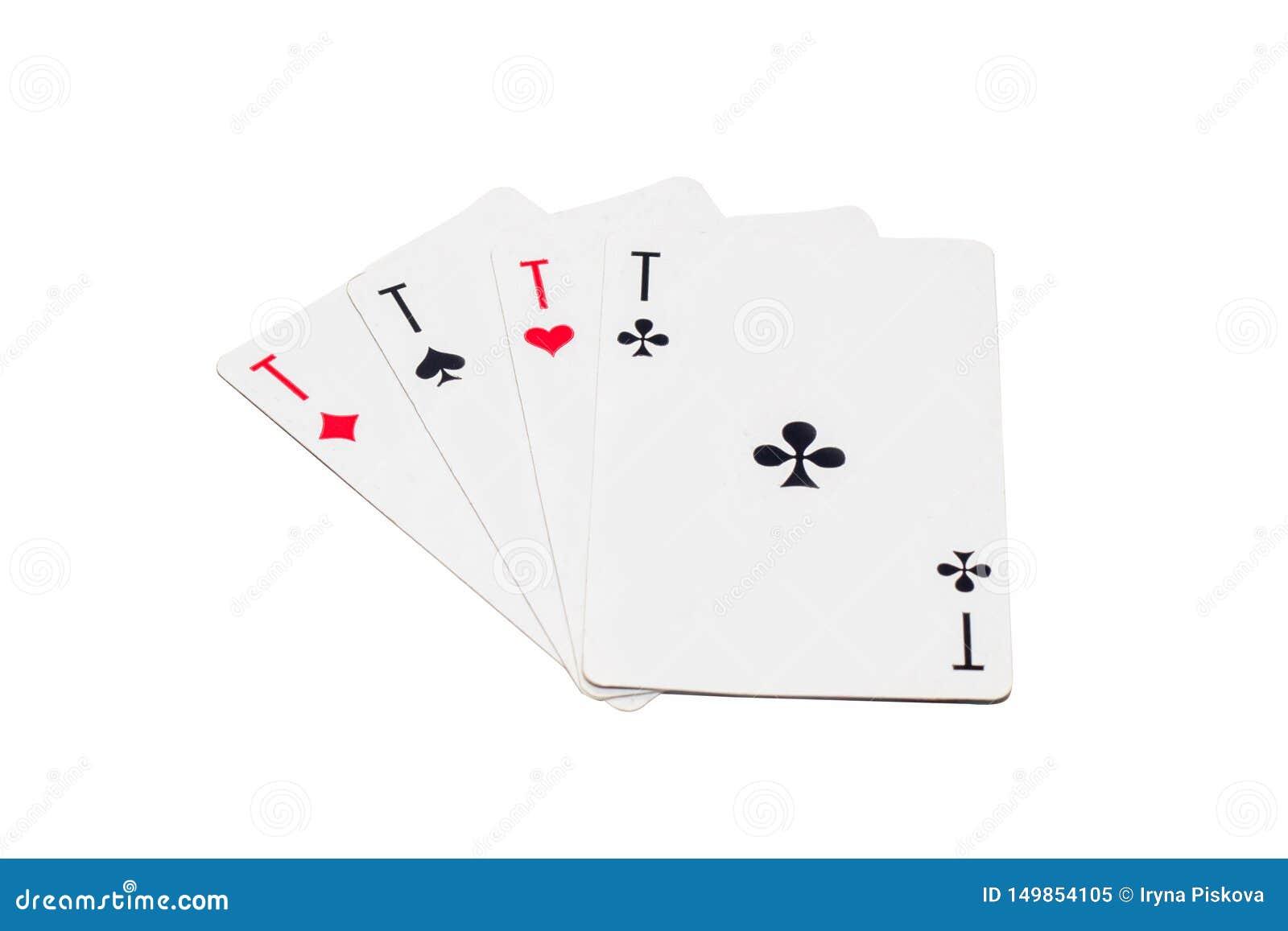 As de las tarjetas de diverso aislante de los trajes