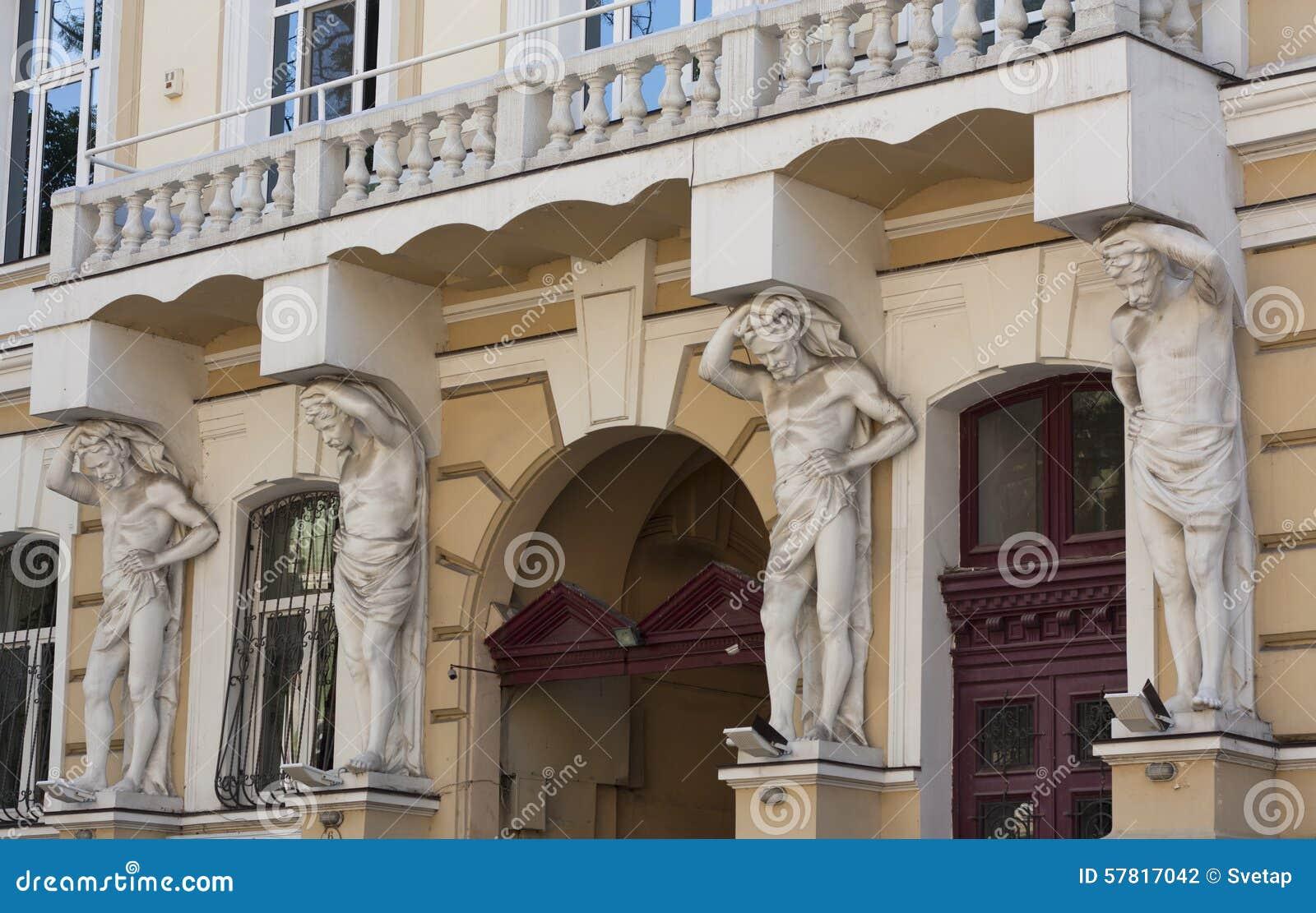 As esculturas que apoiam projetos de uma foto do balcão