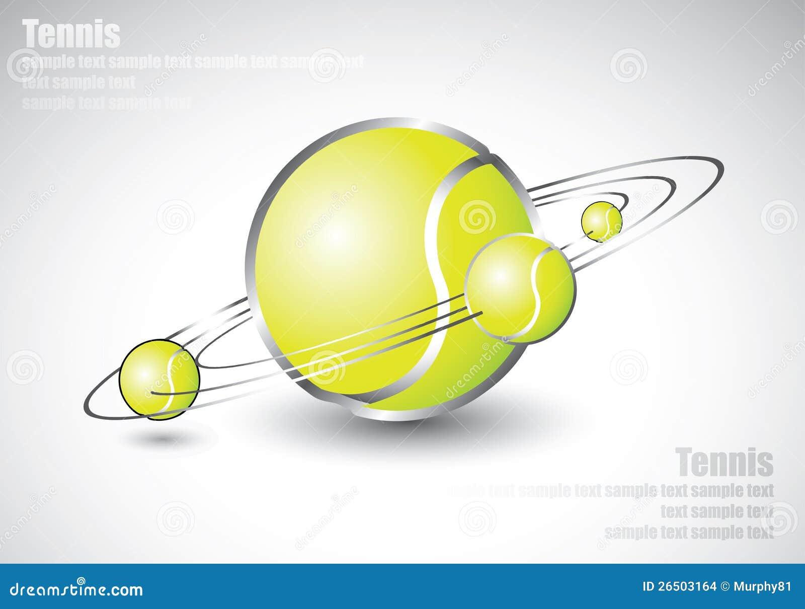 As esferas de tênis deram forma como o sistema solar