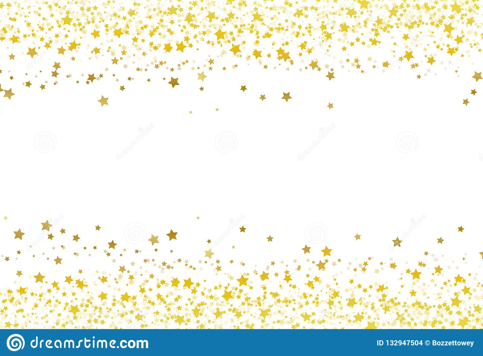 As estrelas dispersam o celebrat da galáxia da bandeira do quadro do ouro dos confetes do brilho