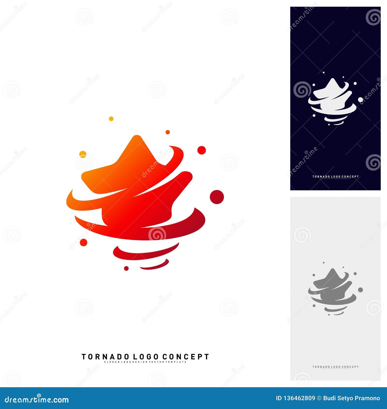 As estrelas torcem Logo Design Concept Vetora Estrelas Logo Vetora Icon da tempestade Molde do logotipo das estrelas do furacão