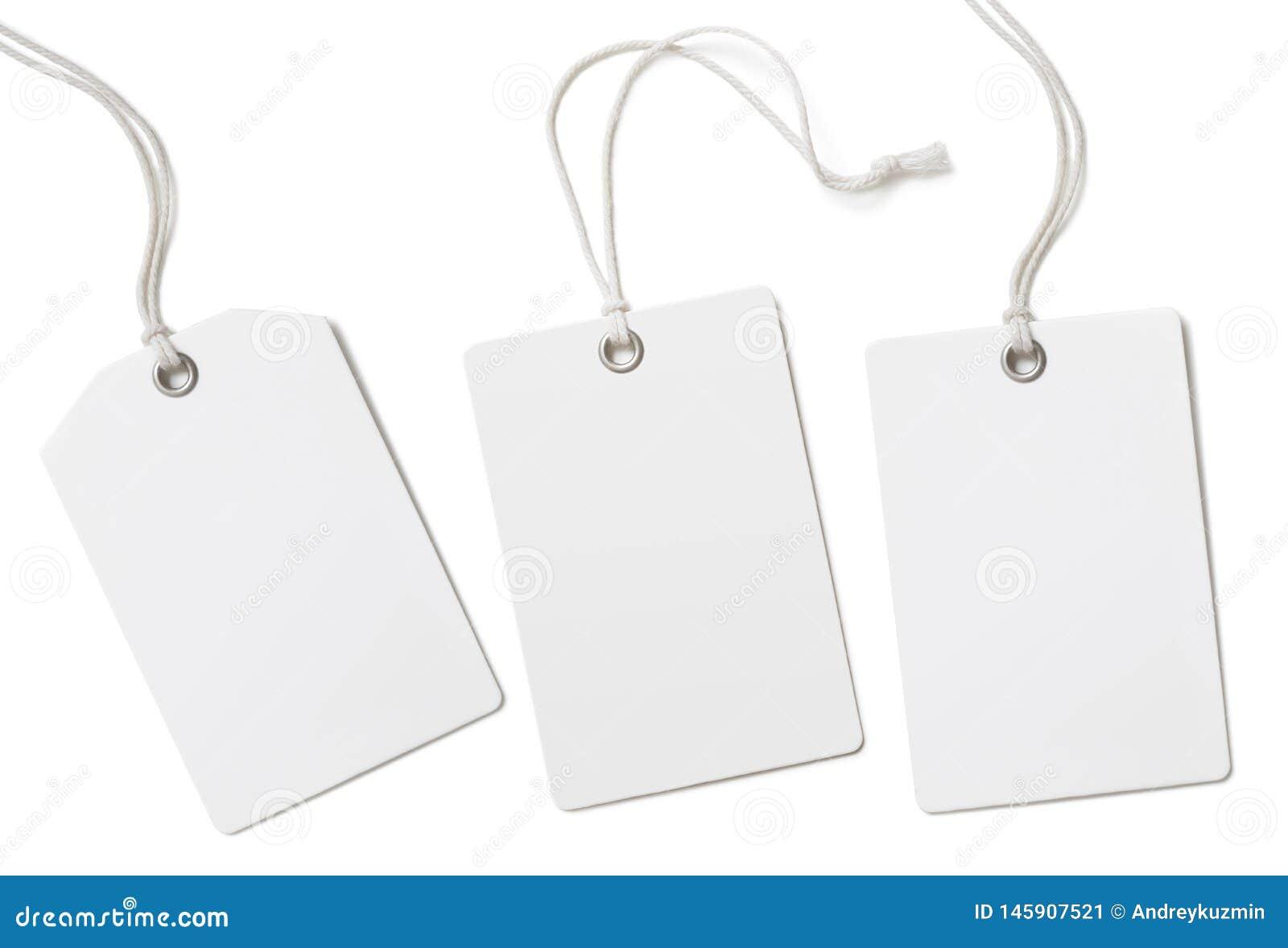 As etiquetas ou os preços de pano do papel vazio ajustaram-se isolado