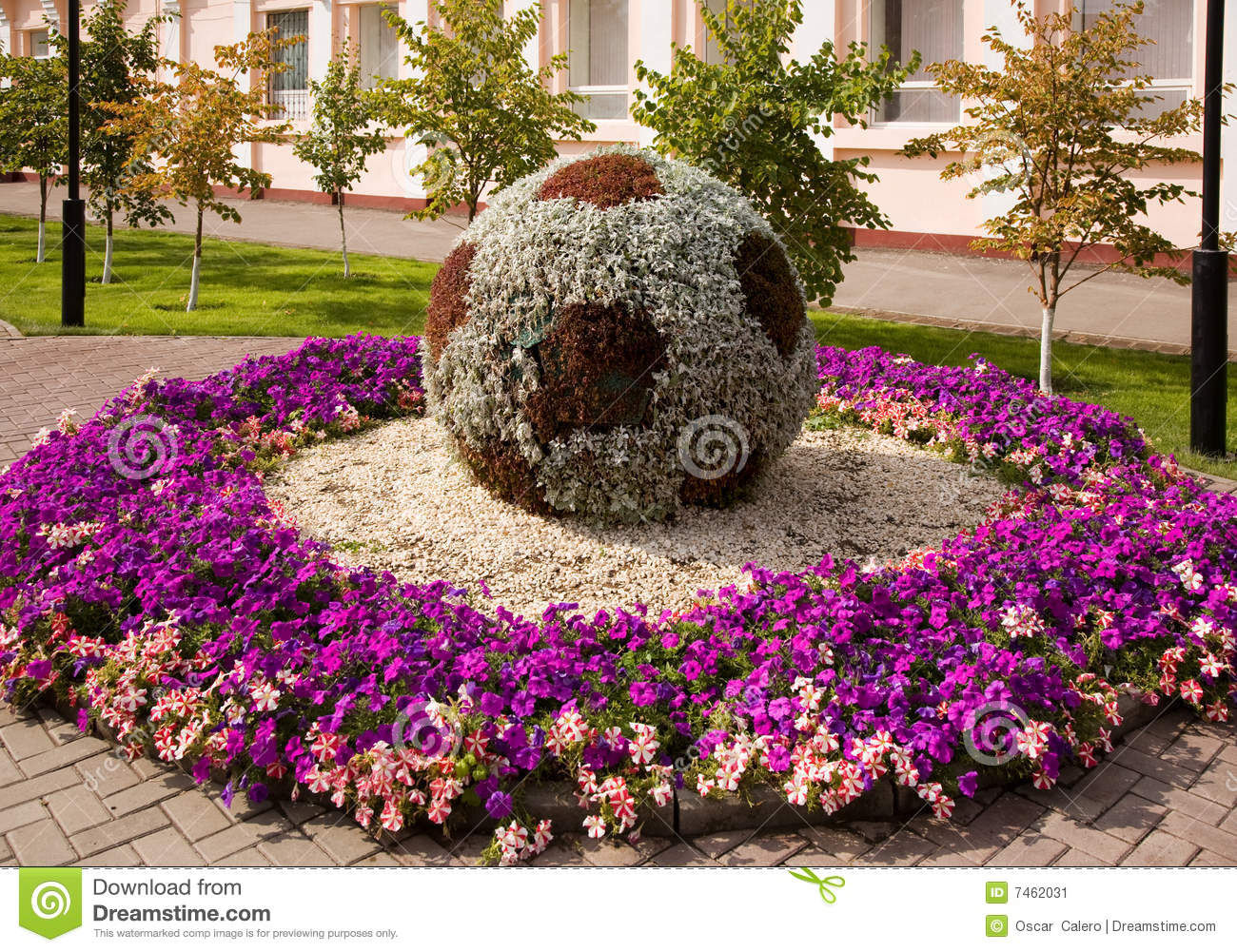 As flores sculpture em Astana