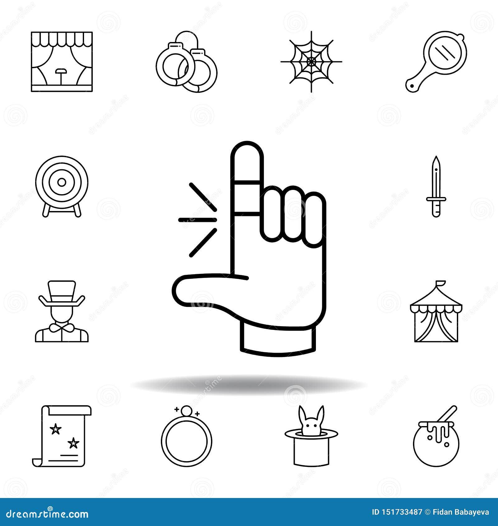 As formas m?gicas entregam o ?cone do esbo?o elementos da linha mágica ícone da ilustração os sinais, símbolos podem ser usados p