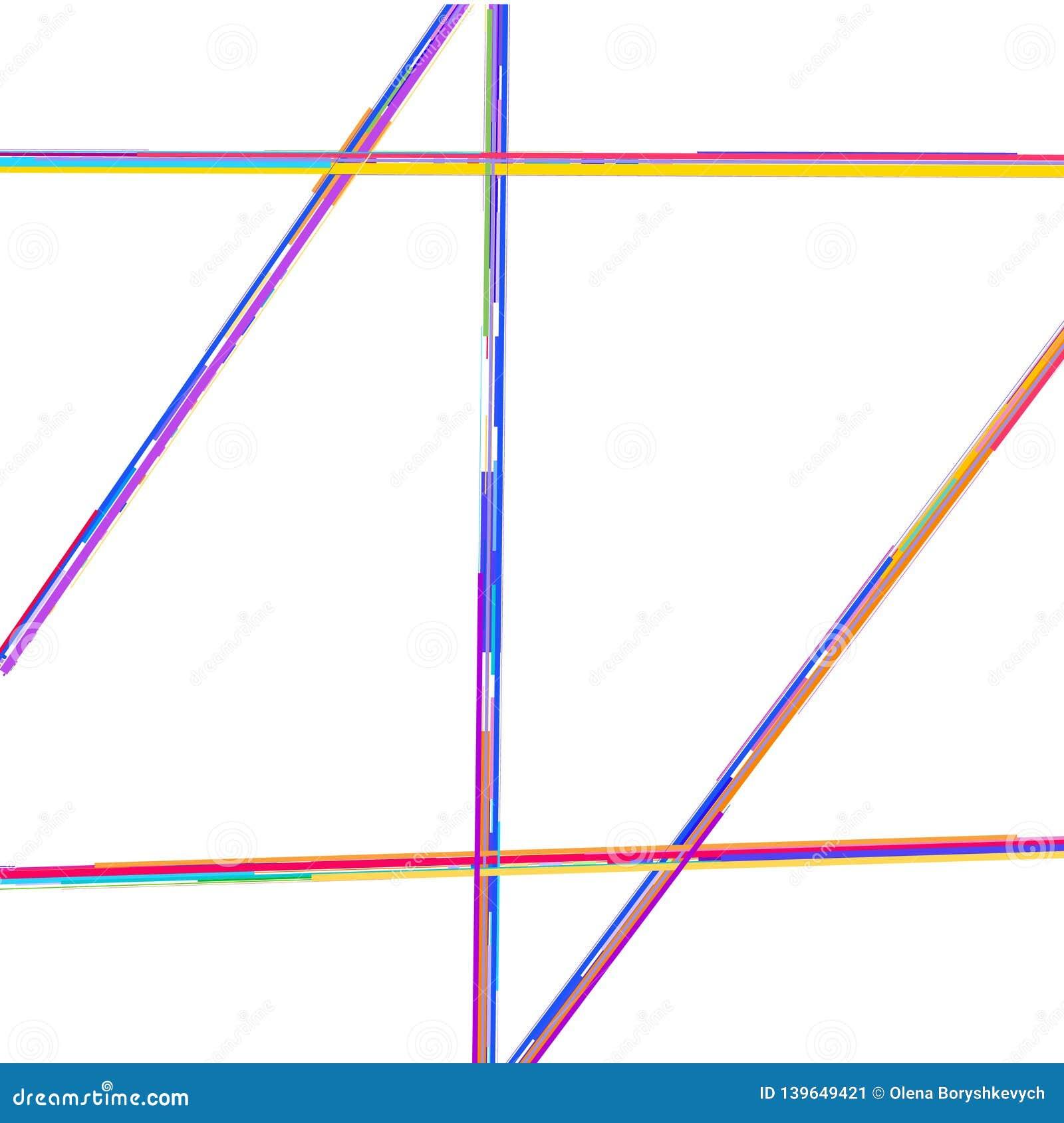 As linhas quebradas coloridas