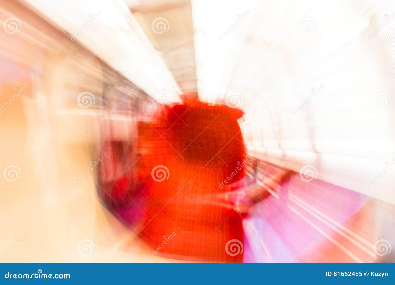 As luzes da rotação de Psychodelic borraram o fundo