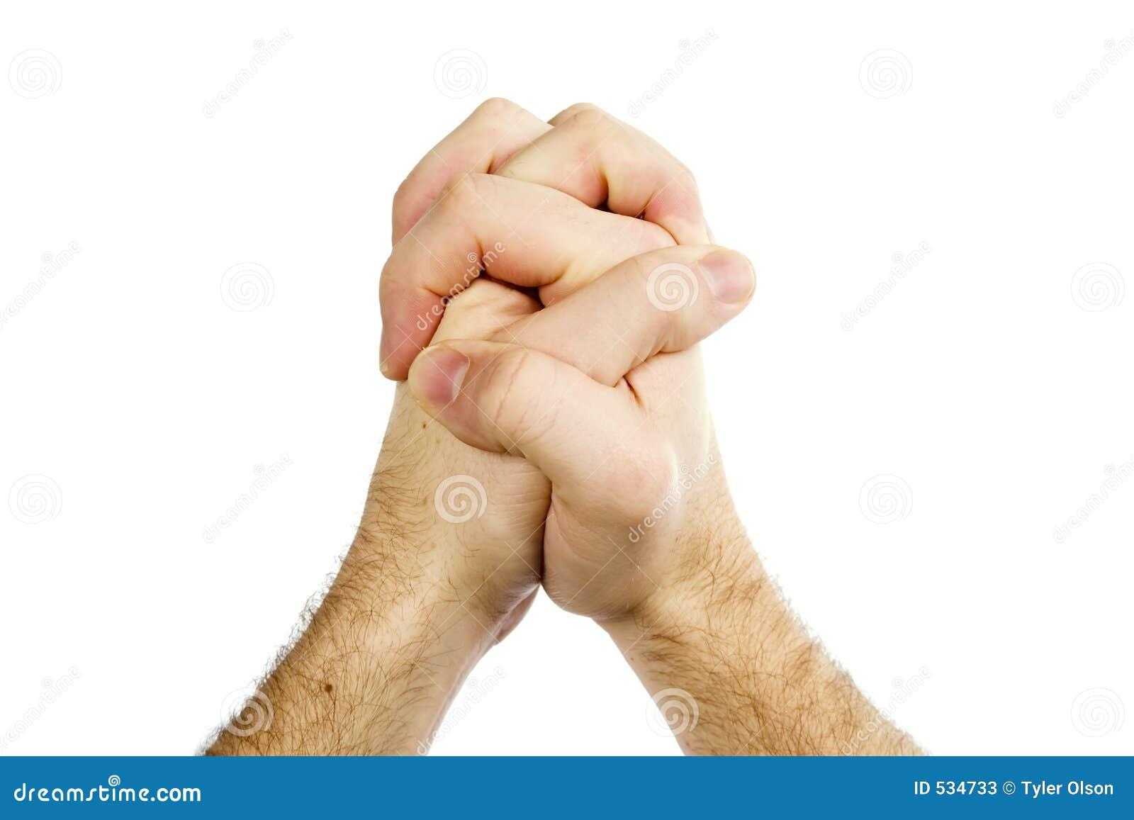 As mãos Praying isolaram-se