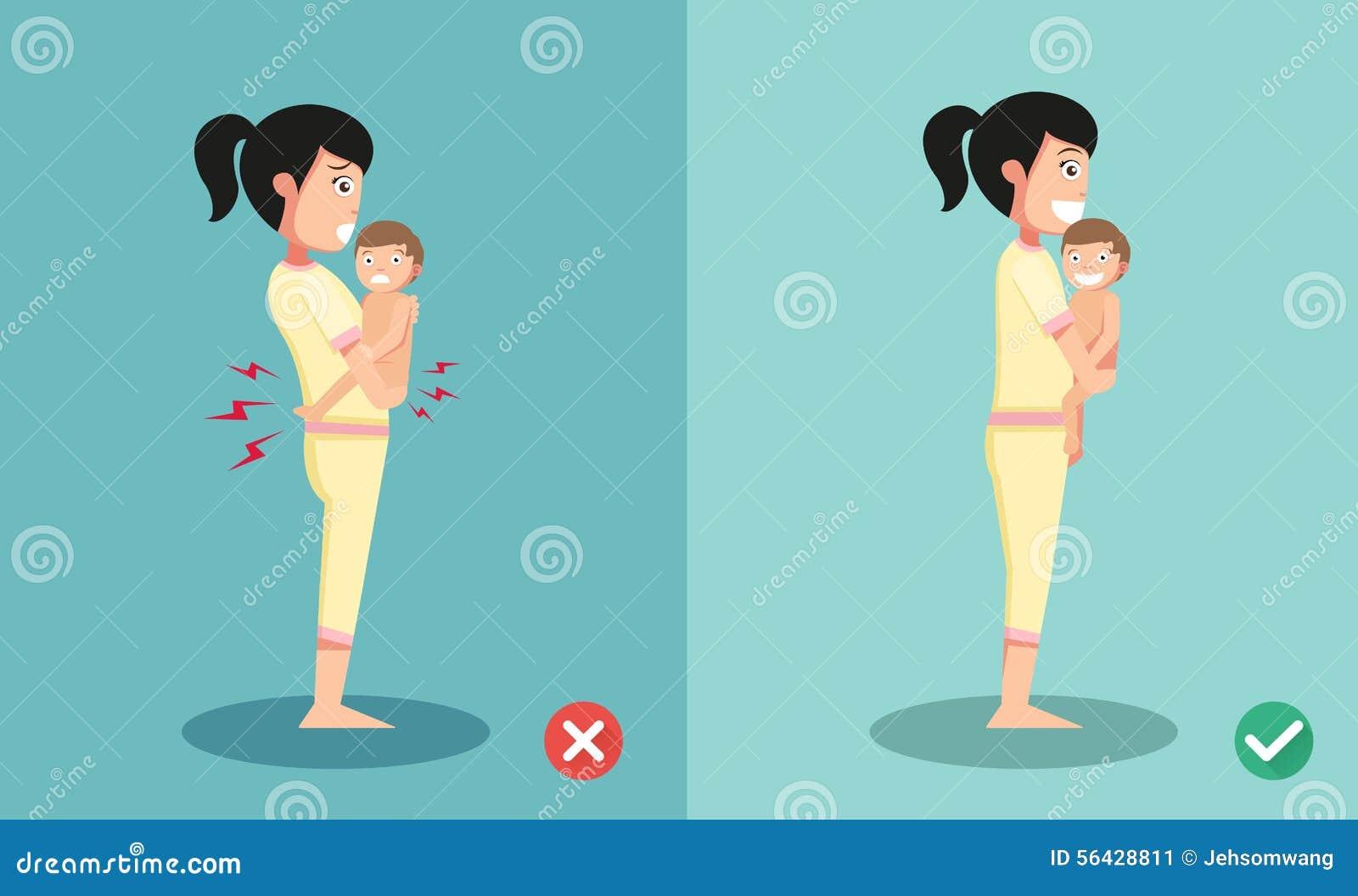 As melhores e posições as mais más para o bebê pequeno guardando estando