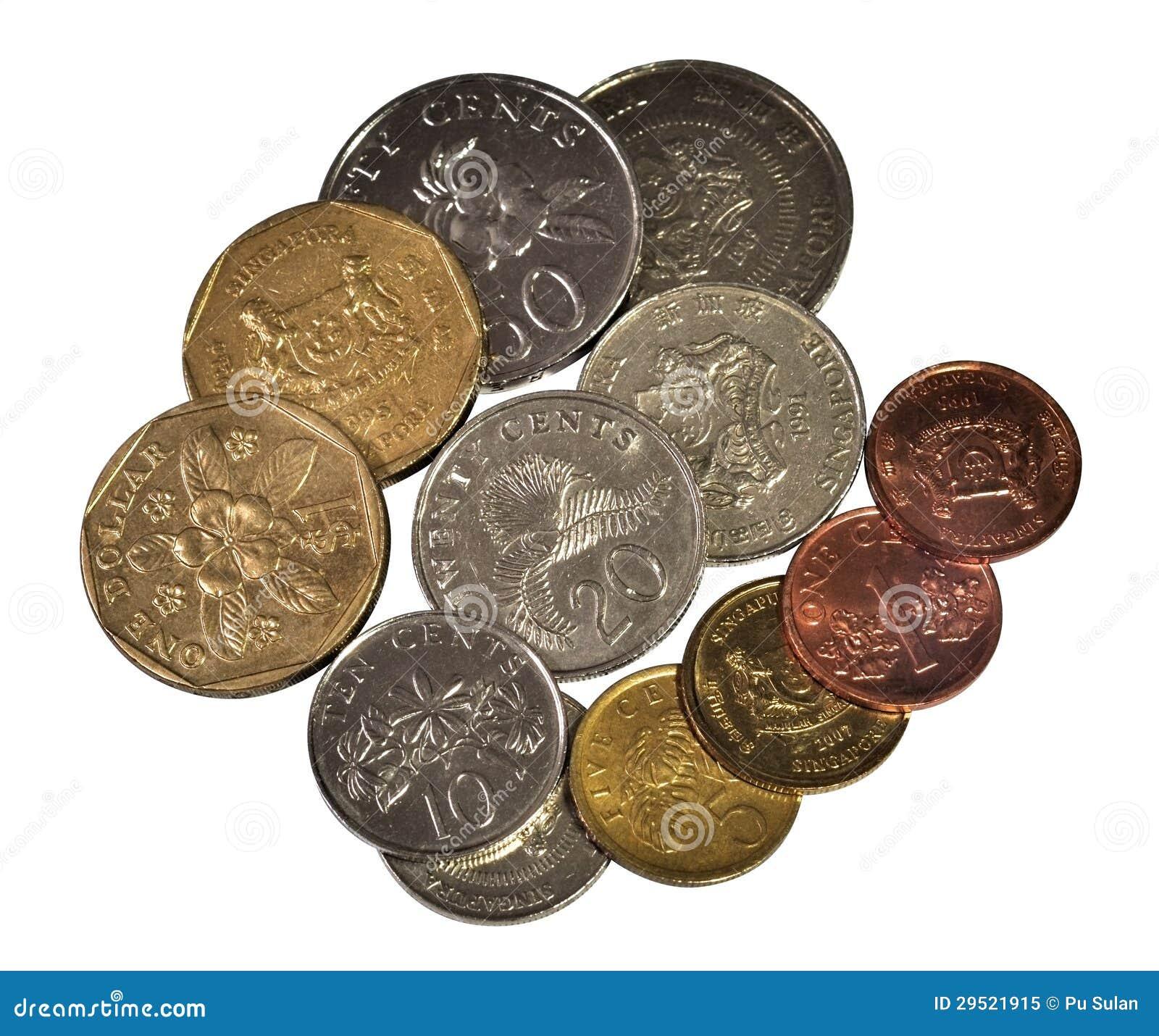 As moedas de Singapore ajustaram i
