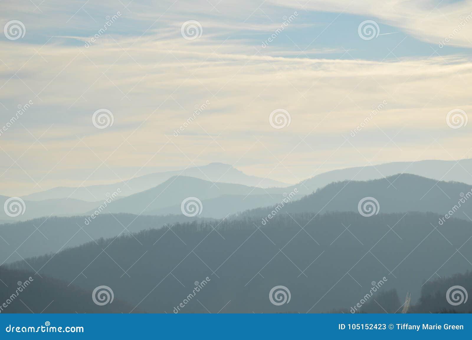 As montanhas apalaches bonitas em Boone, North Carolina