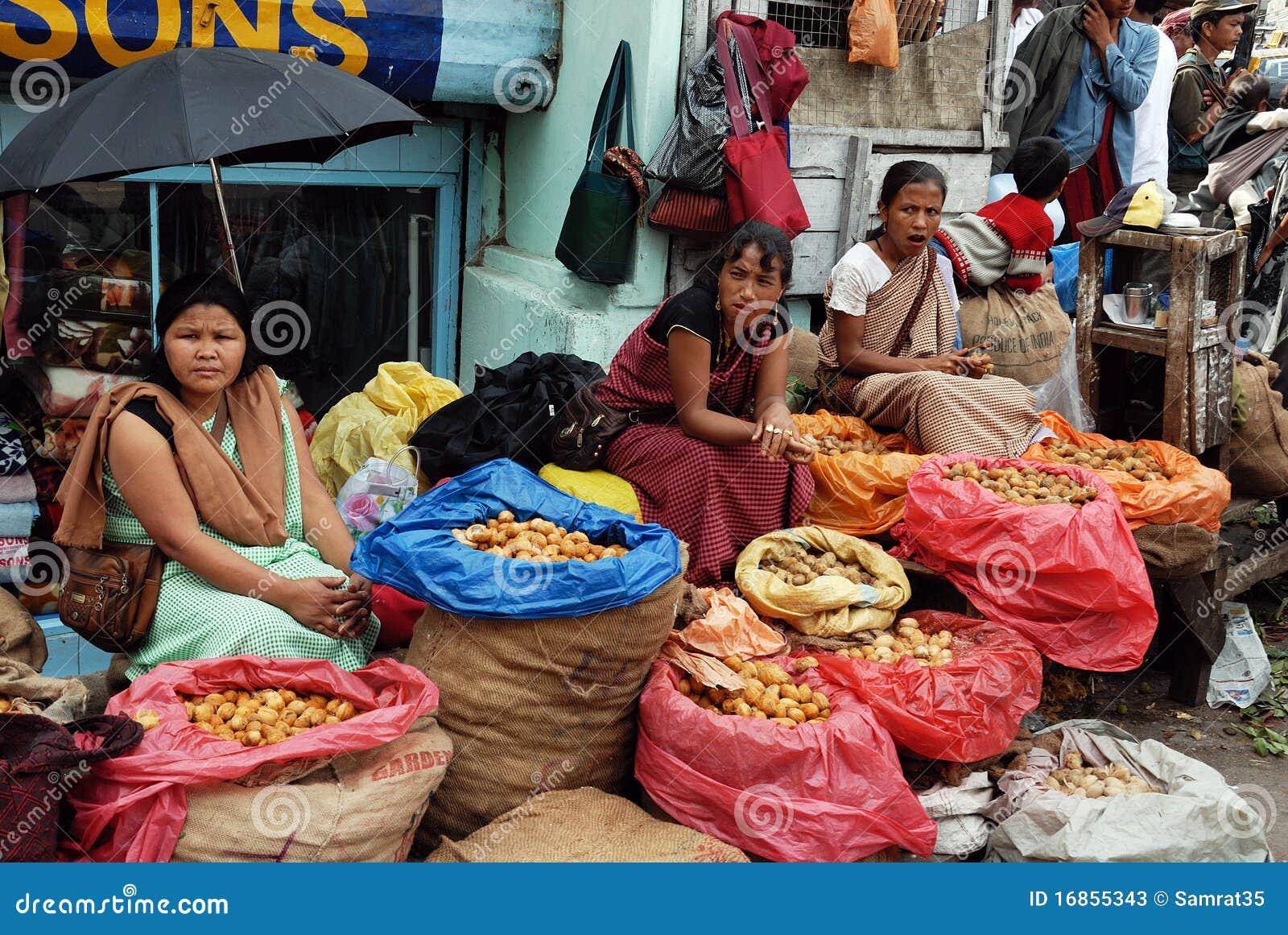 As mulheres introduzem no mercado em India