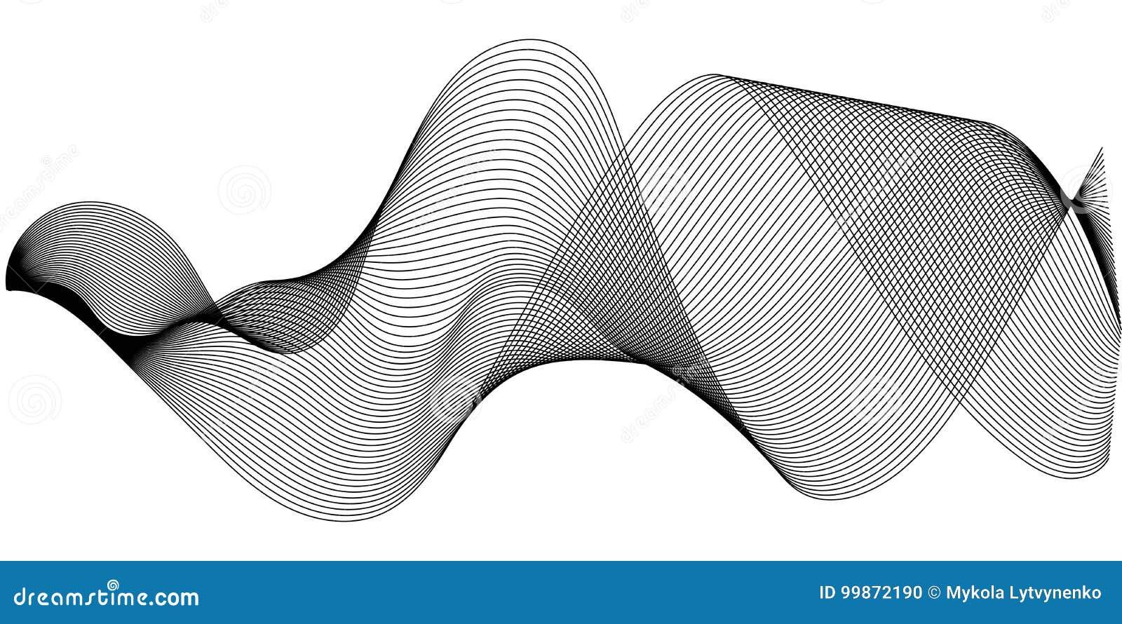 As ondas sadias da música ajustaram-se, fulgor de oscilação das ondas sadias, ilustração de intervalo mínimo da onda sadia do equ