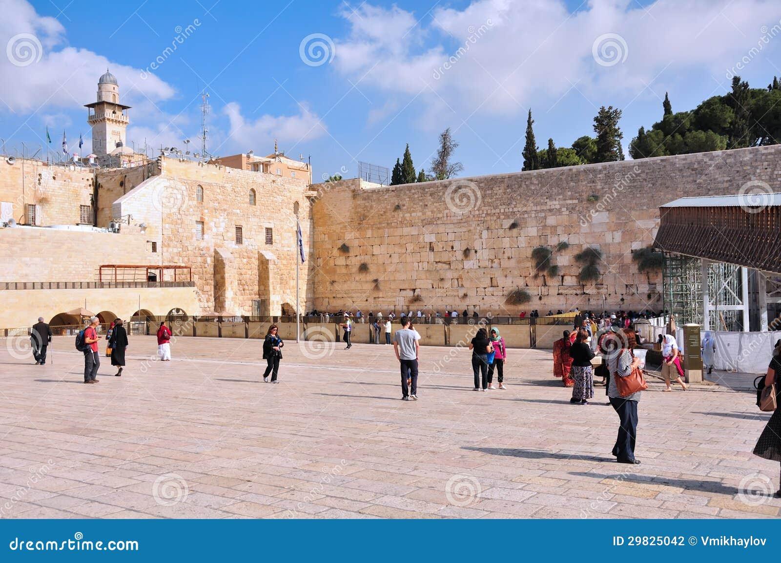 Parede lamentando de Jerusalem