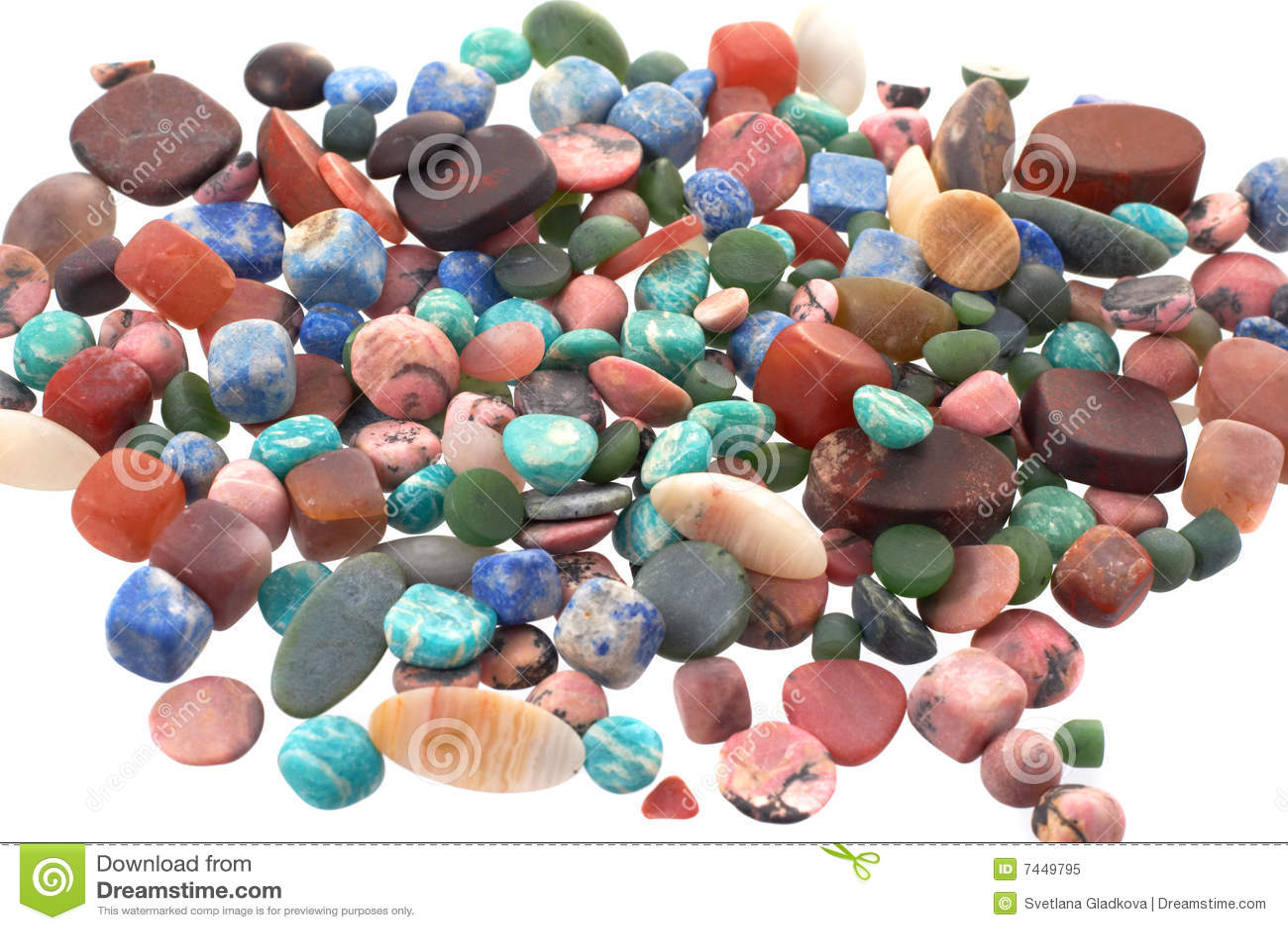 As pedras semipreciosas
