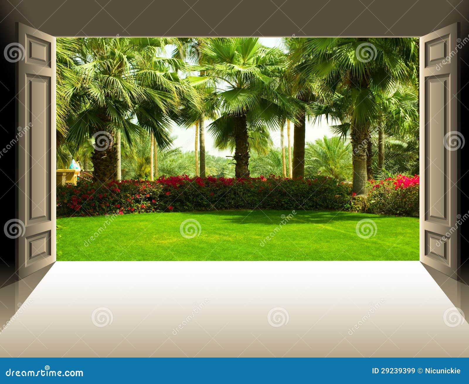Download As portas abrem imagem de stock. Imagem de liberdade - 29239399