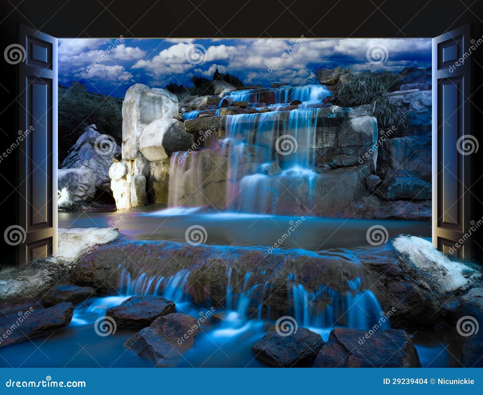 Download As portas abrem foto de stock. Imagem de beleza, campo - 29239404