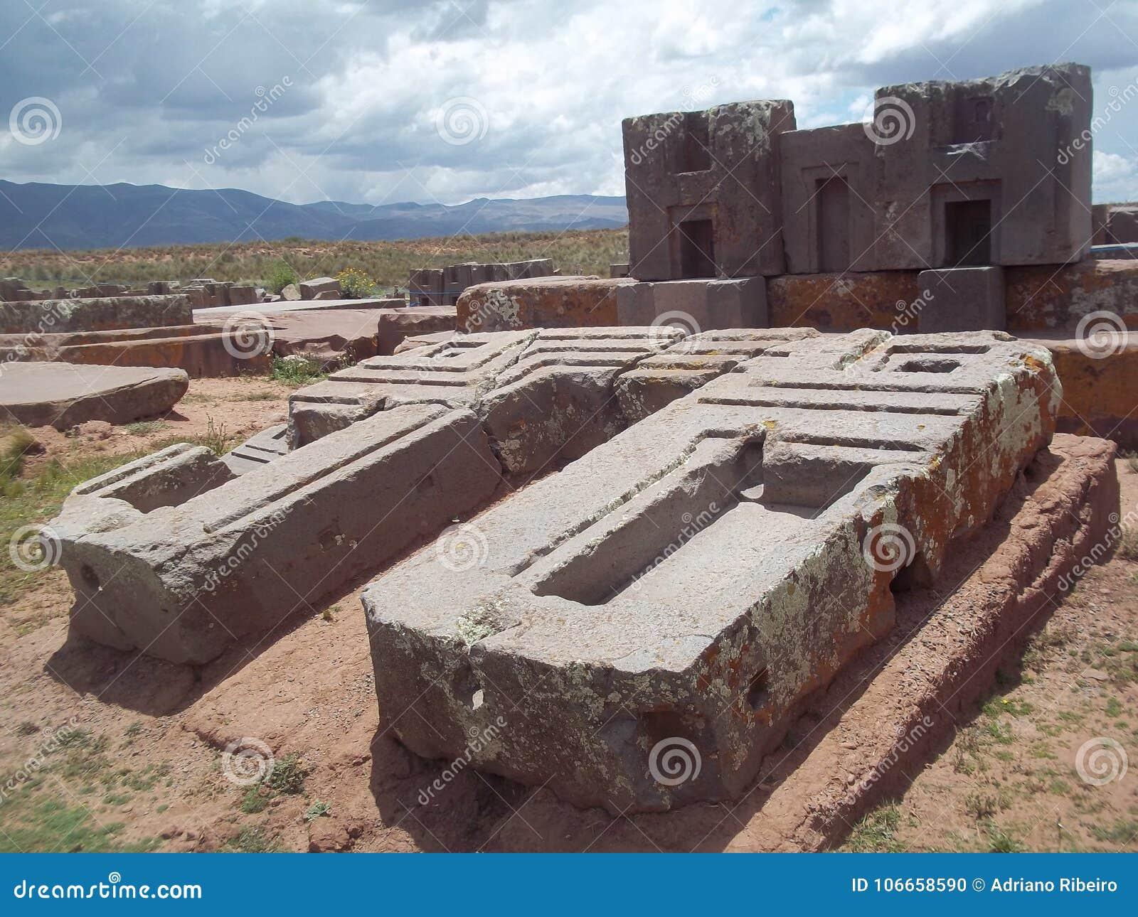As ruínas de Pumapunku