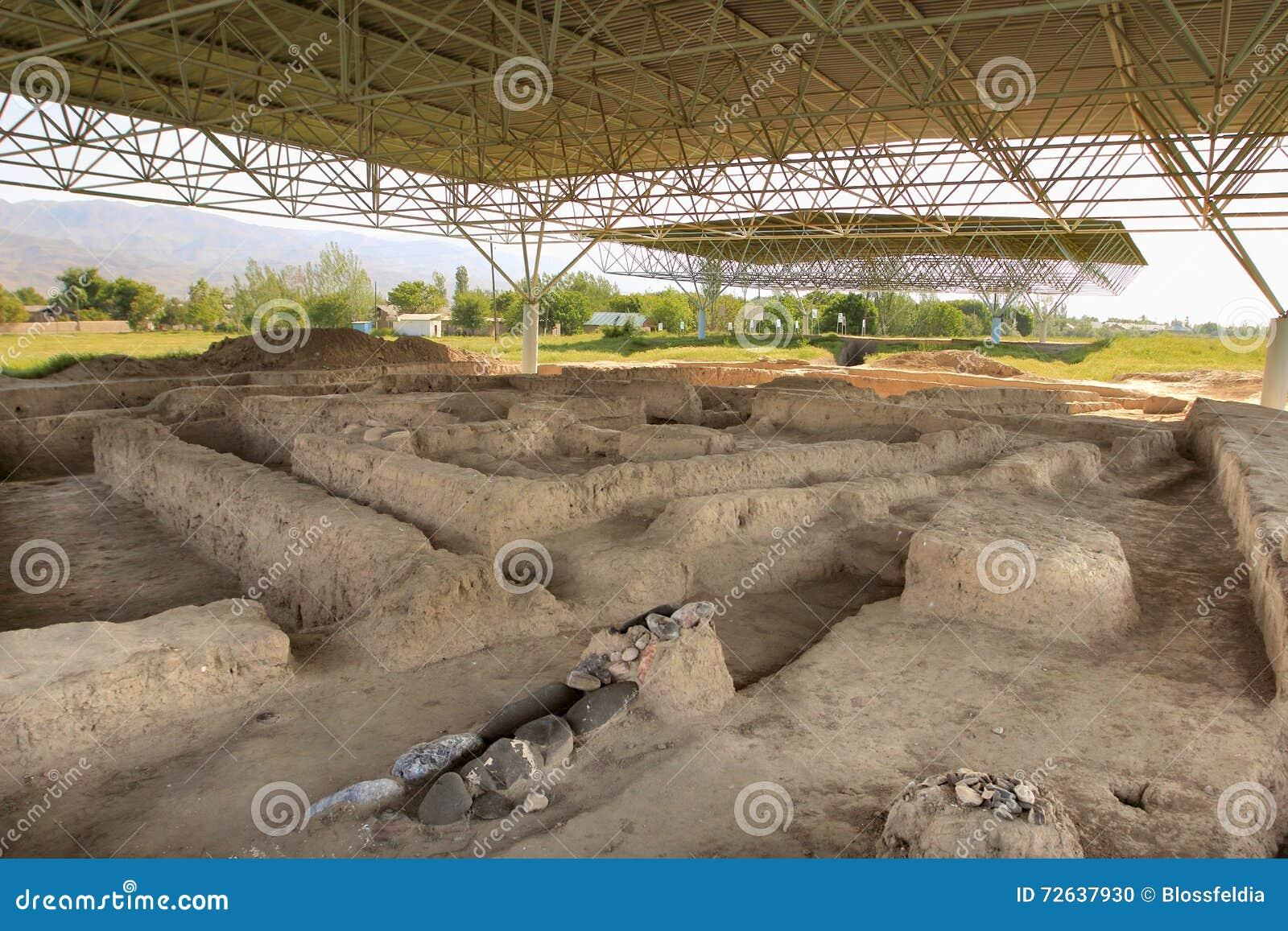 As ruínas de Sarazm, Tajiquistão