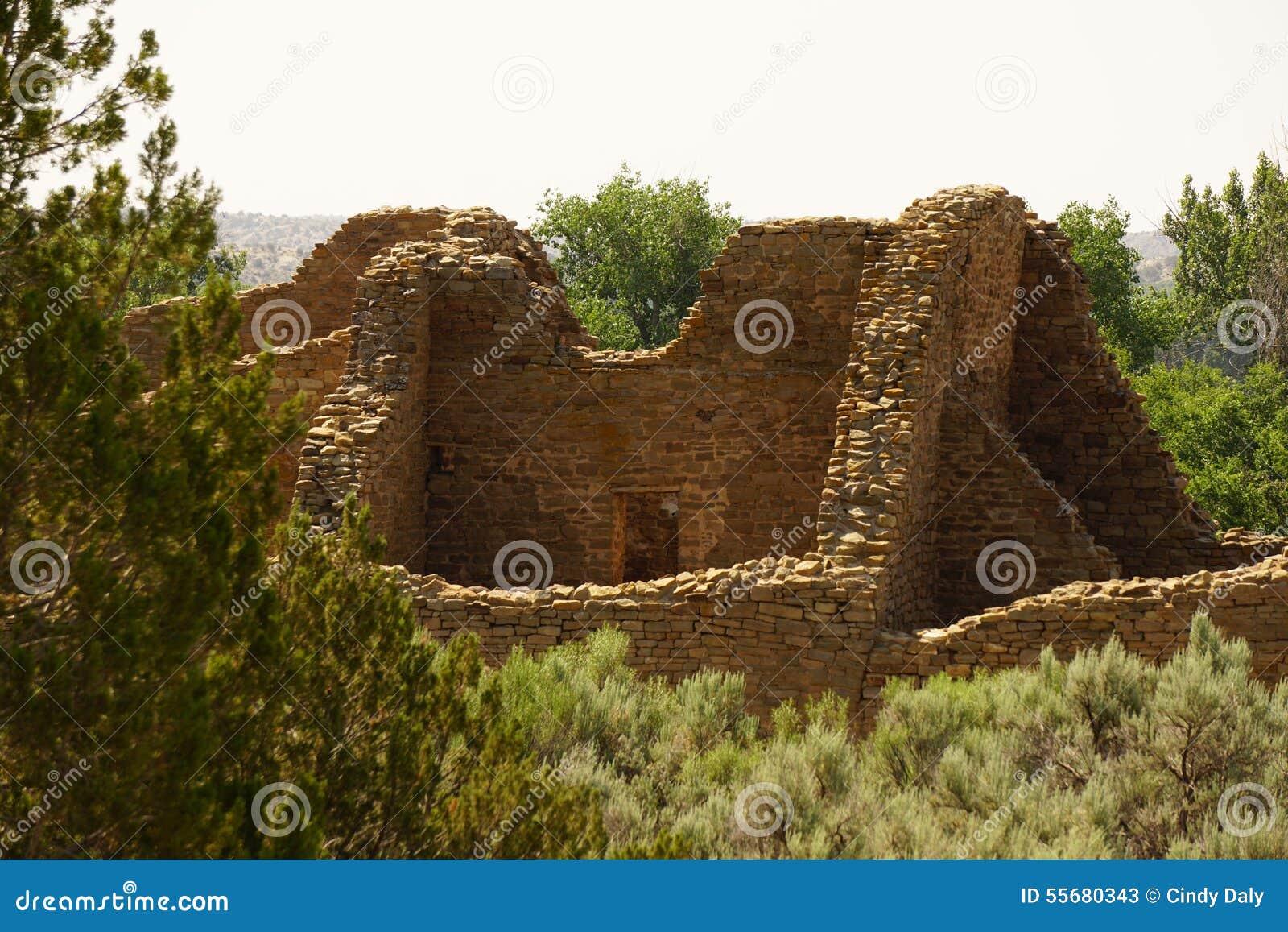 As ruínas do asteca no nanômetro