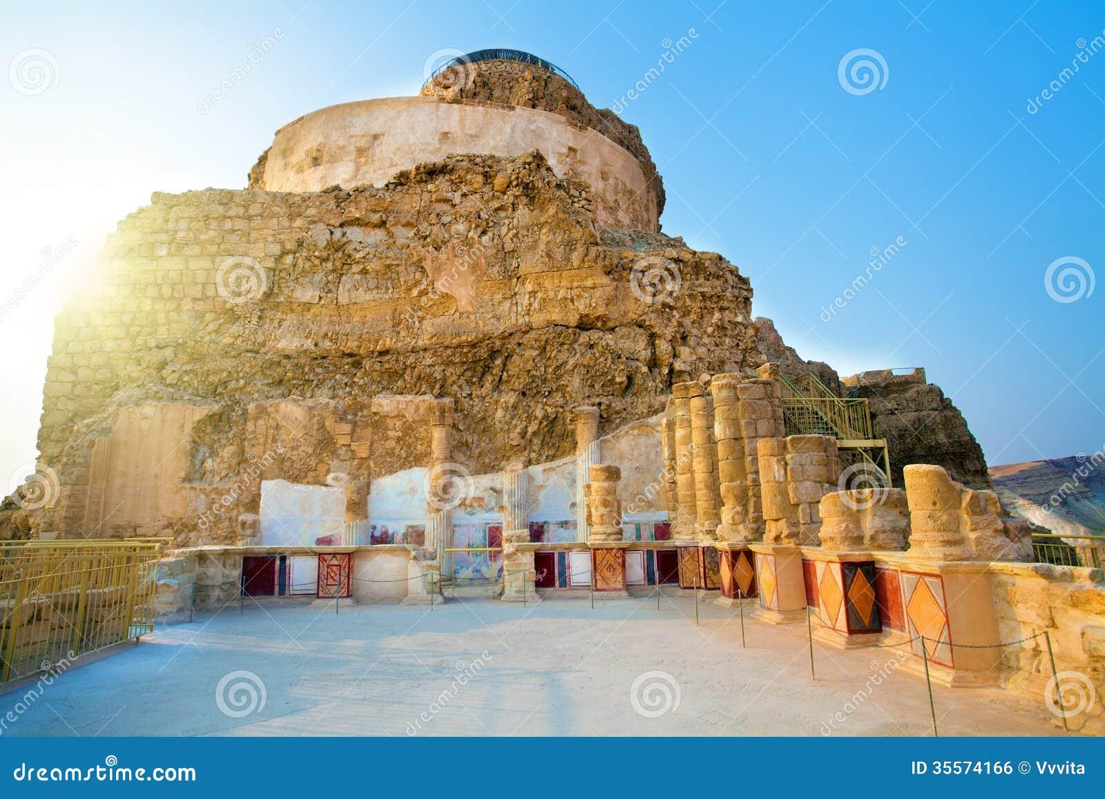 As ruínas do palácio de Masada do rei Herod