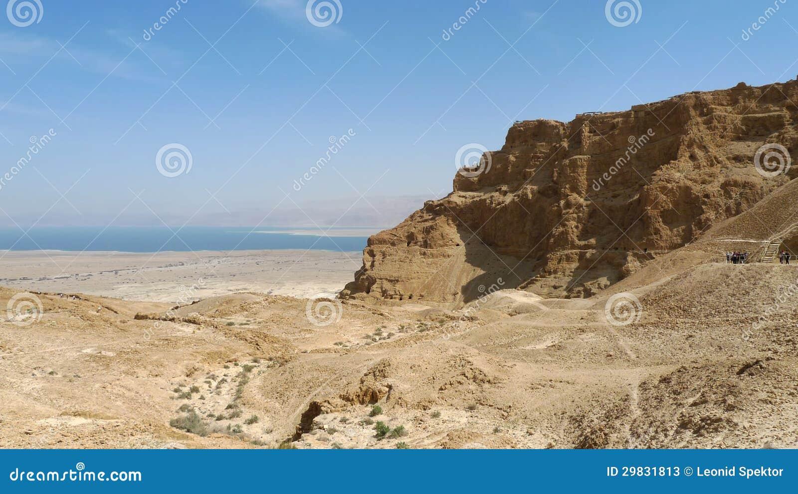Montanha da fortaleza de Masada.