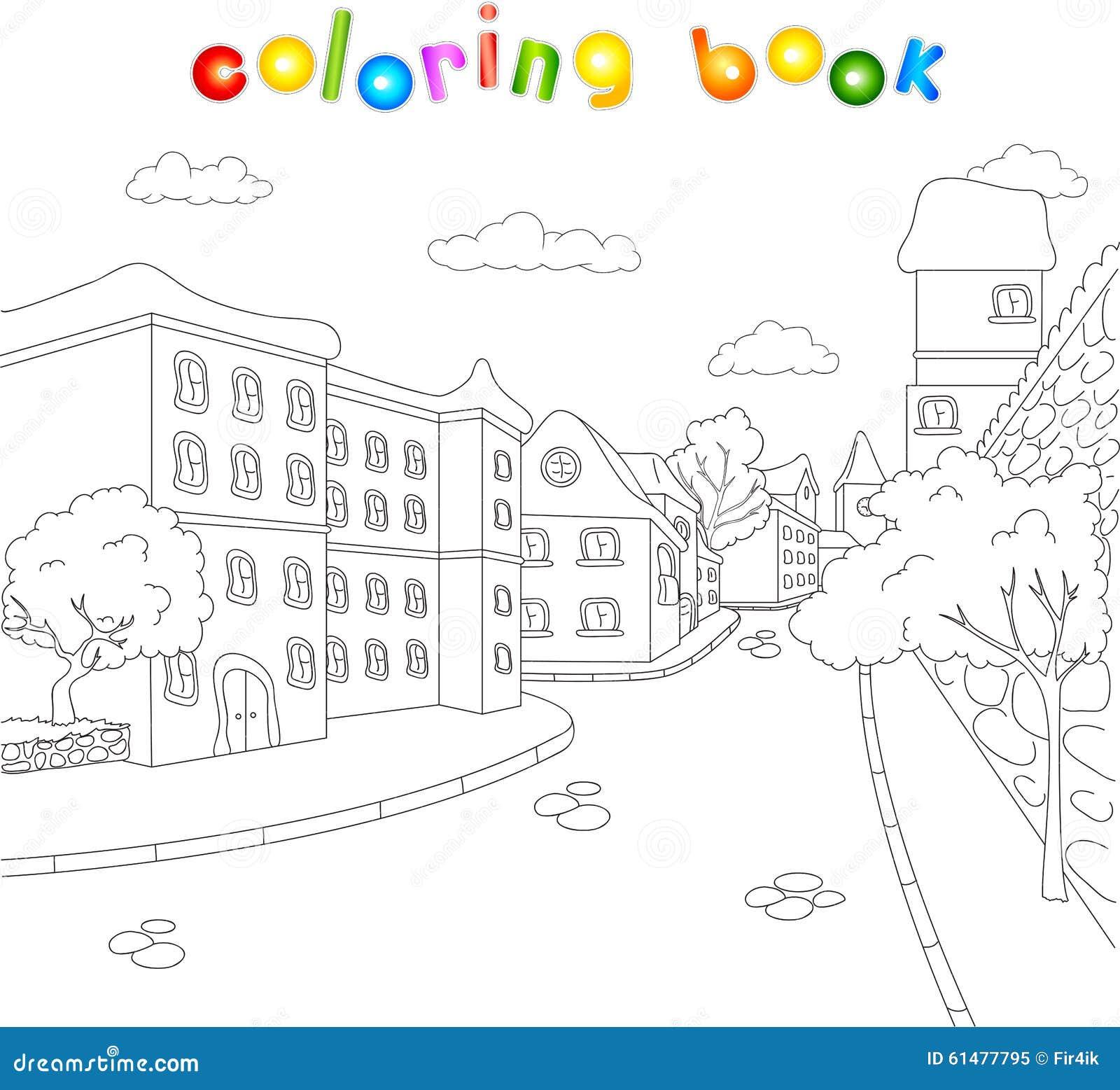 As Ruas Da Cidade Velha Livro Para Colorir Para Criancas Sobre O