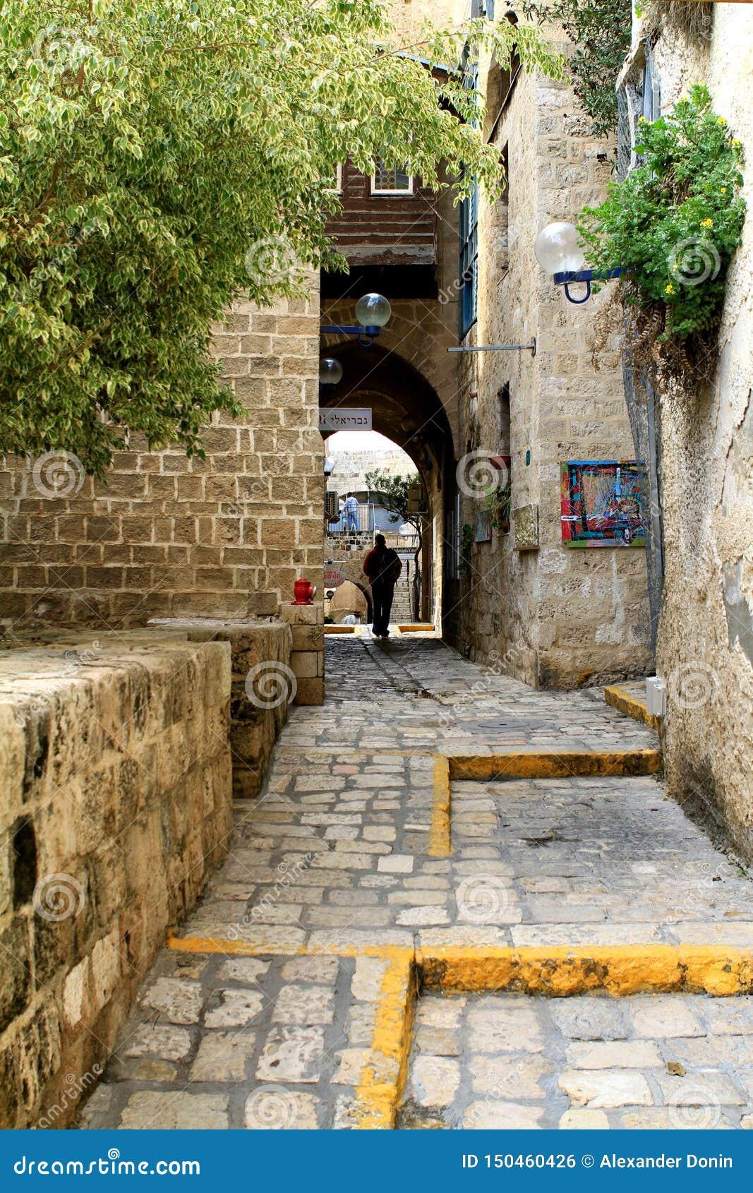 As ruas de Jaffa velho