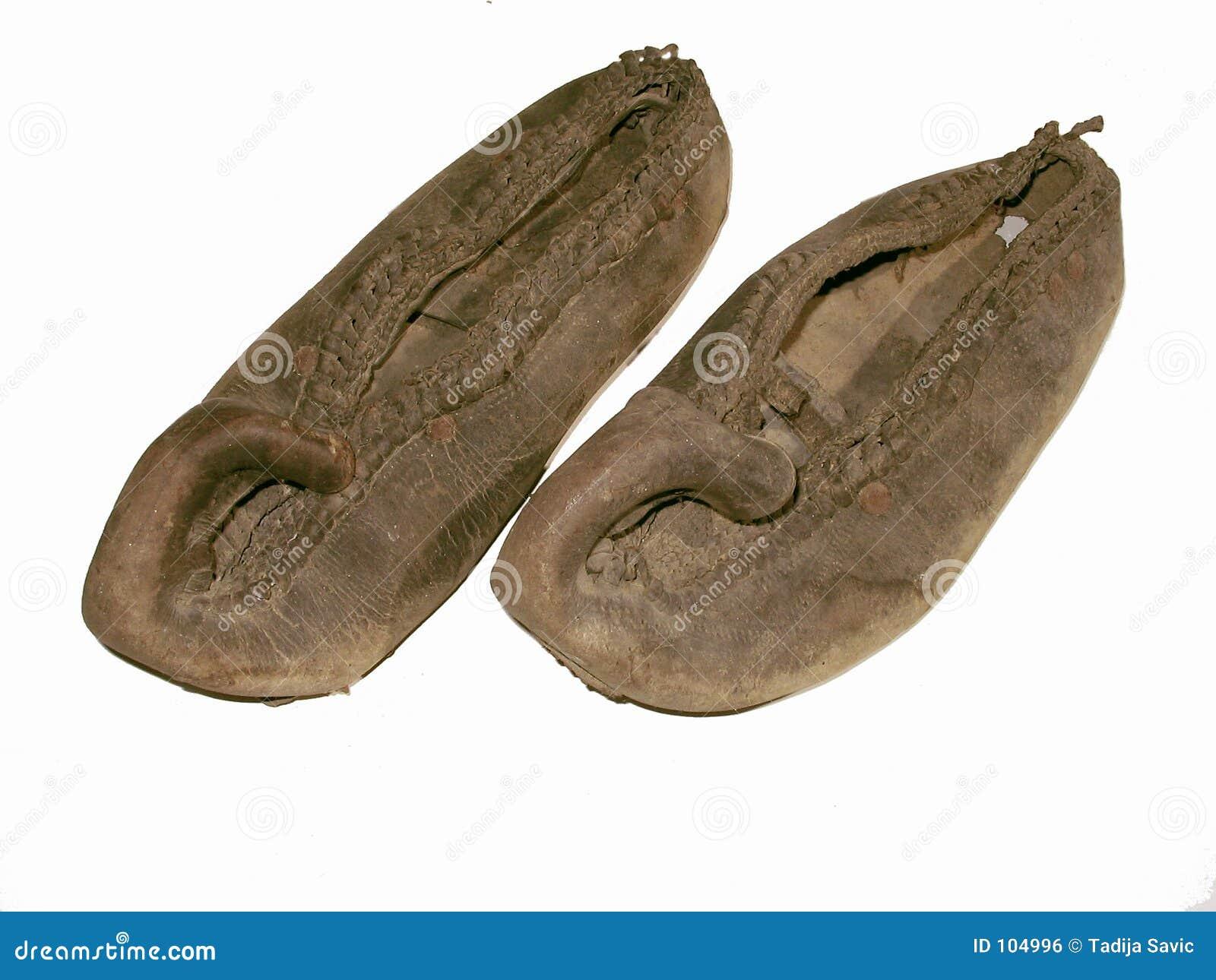 As sapatas da antiguidade