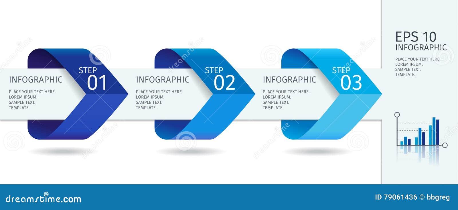 As setas de Infographic com intensificam opções Molde do vetor no estilo liso do projeto