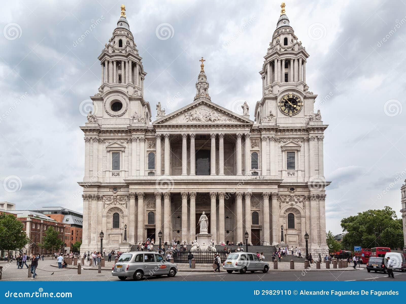 Fachada da catedral de Saint Paul