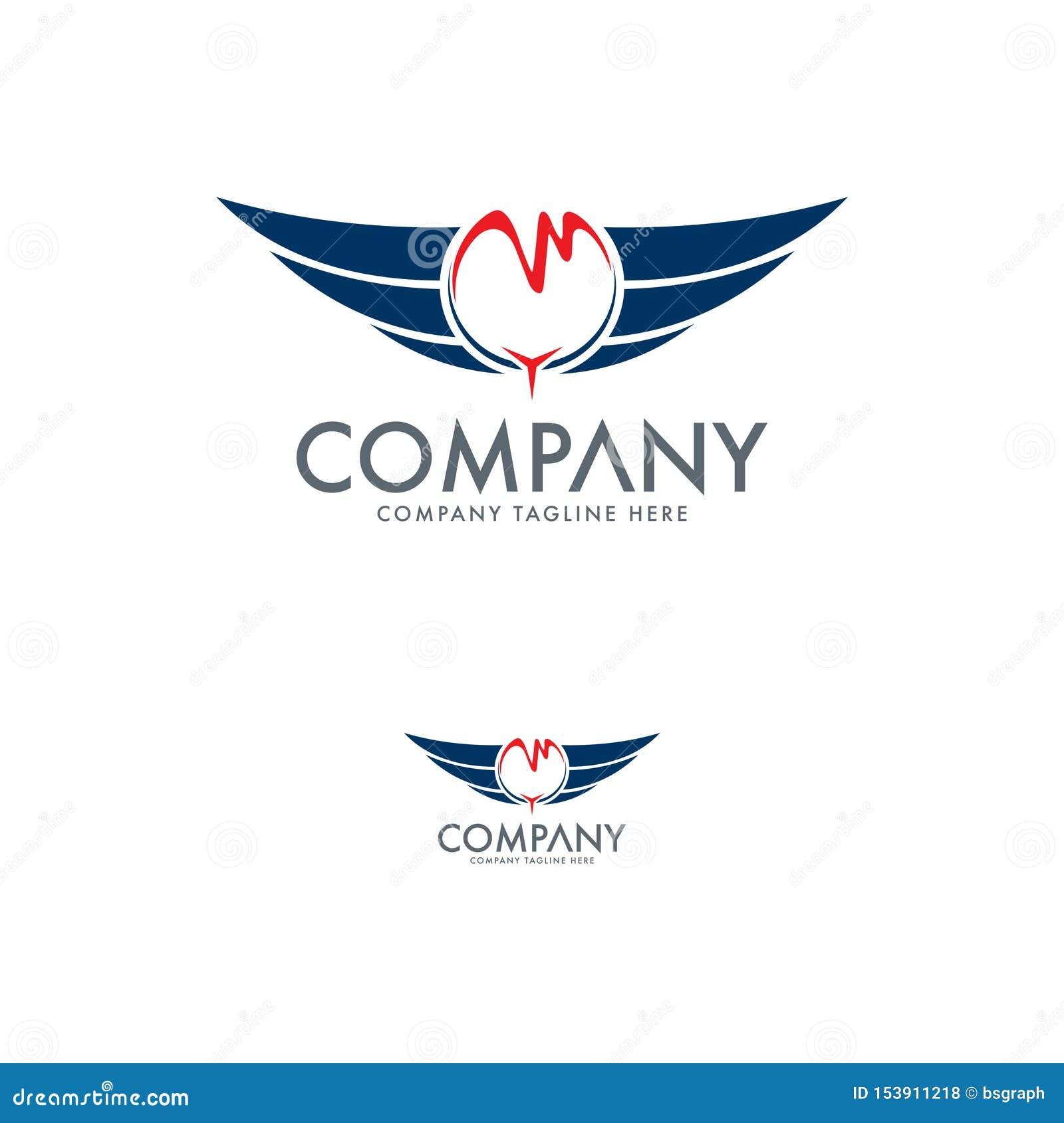Asa, molde do projeto do logotipo do falcão