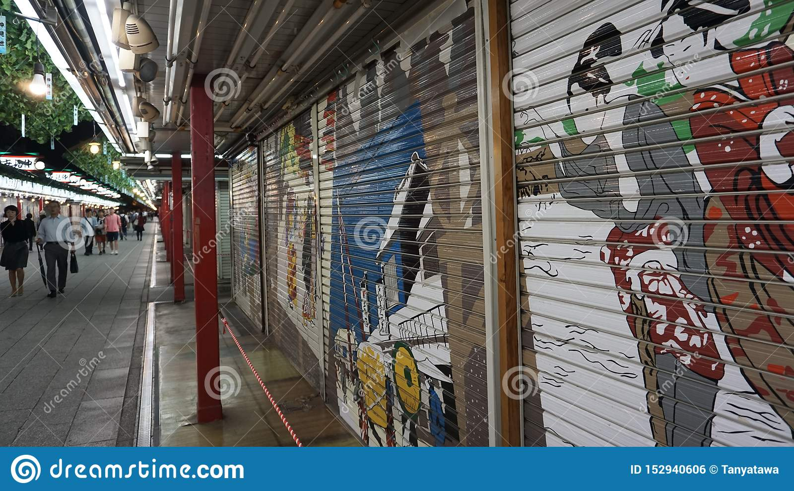 Asakusa nakamise-Dori het winkelen straat, Tokyo
