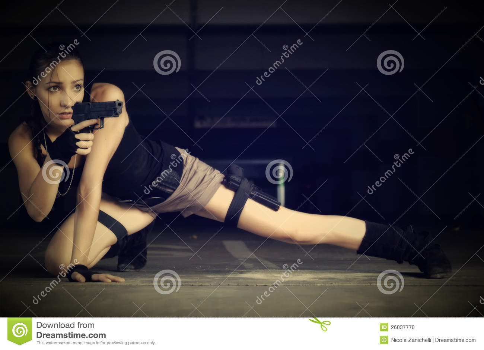 Asaltante entrenado para la lucha cuerpo a cuerpo Cosplay de la tumba