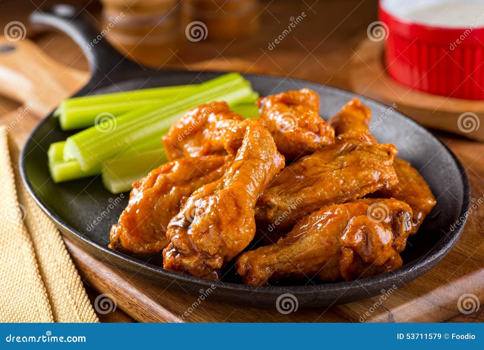 Asas de galinha picantes