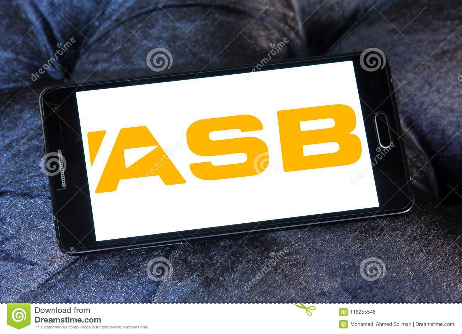 ASB Bank logo editorial photo  Image of asset, brand - 116255546