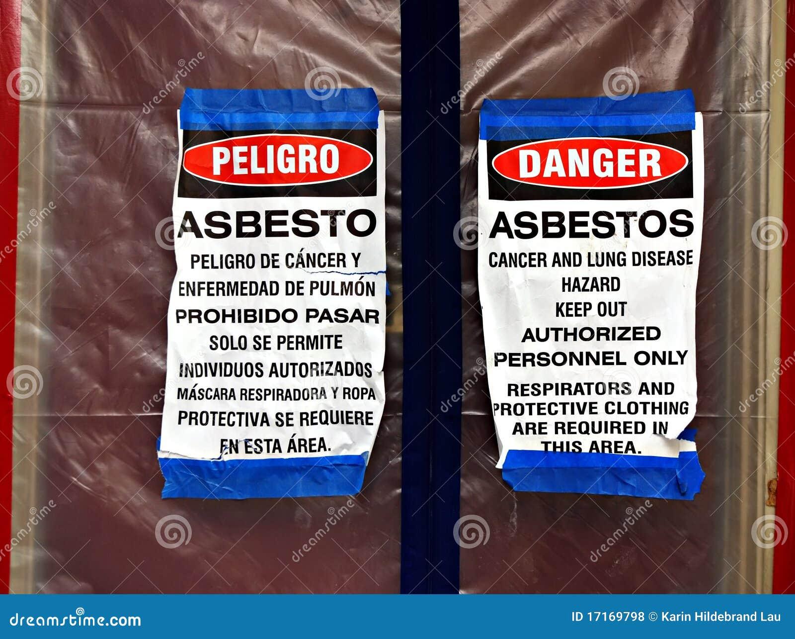 Asbestos Abatement Signs Royalty Free Stock Photos Image