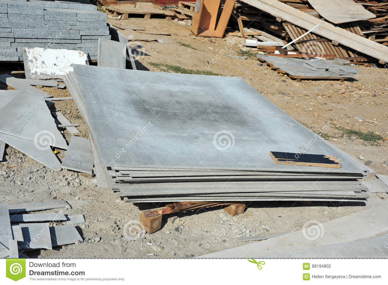 Download Asbestos Cement Wallboard Stock Photo Image Of Building