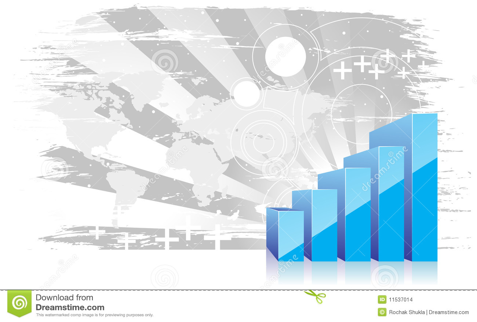 Ascensão da exibição do gráfico 3d nos lucros