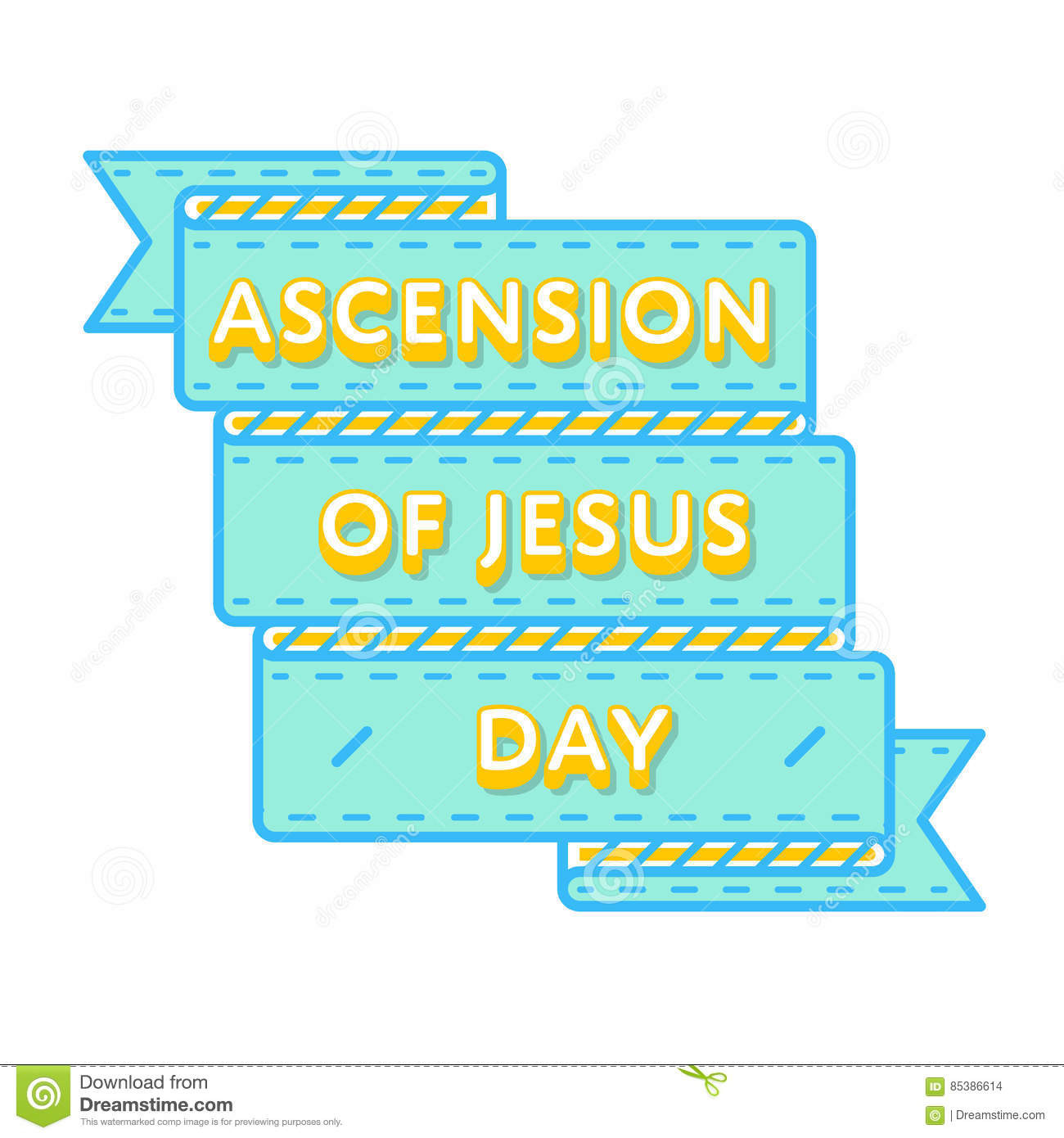 Ascension Of Jesus Holiday Greeting Emblem Stock Vector ...