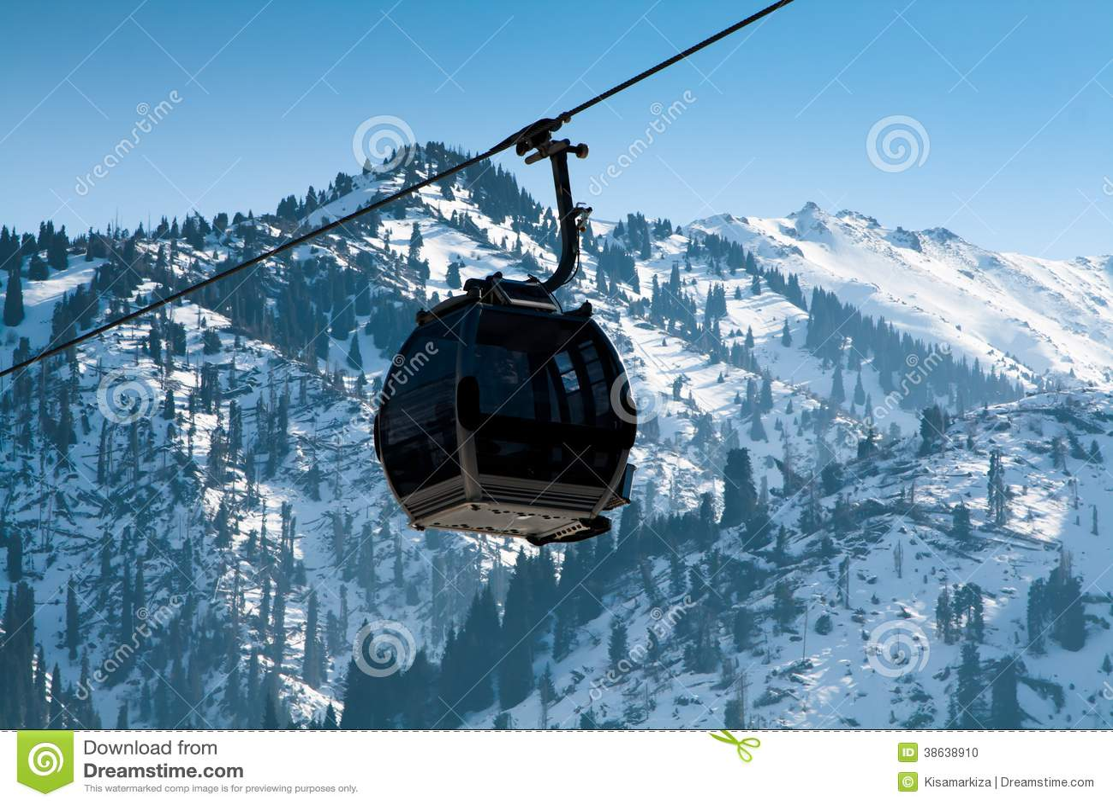 Ascensore della gondola cabina di funivia fotografia for Affitti della cabina di whistler