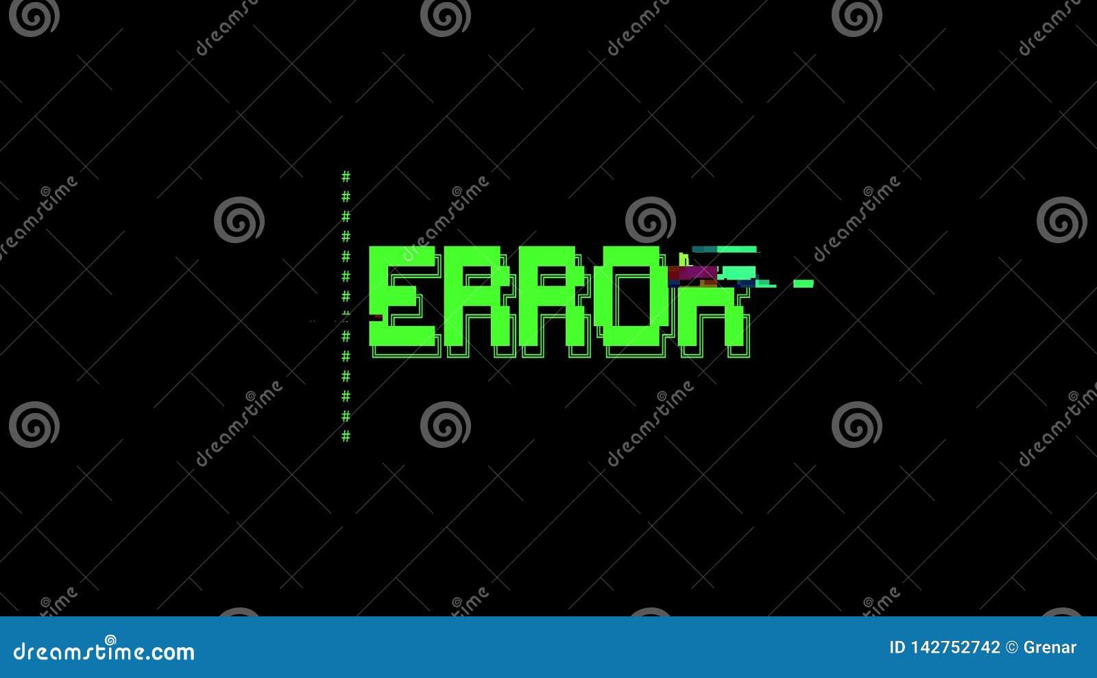 ASCII Art Message Error Glitch Stock Illustration
