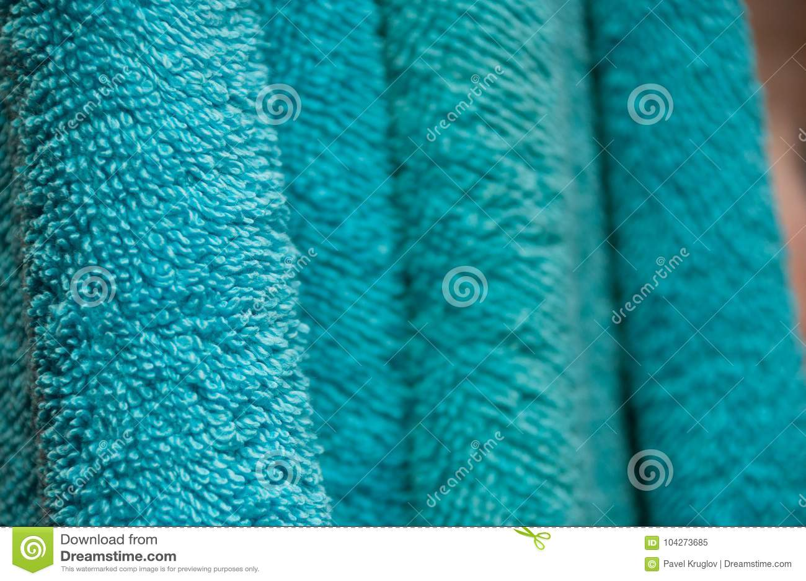Asciugamani di bagno asciutti ondulati dellacquamarina di colore