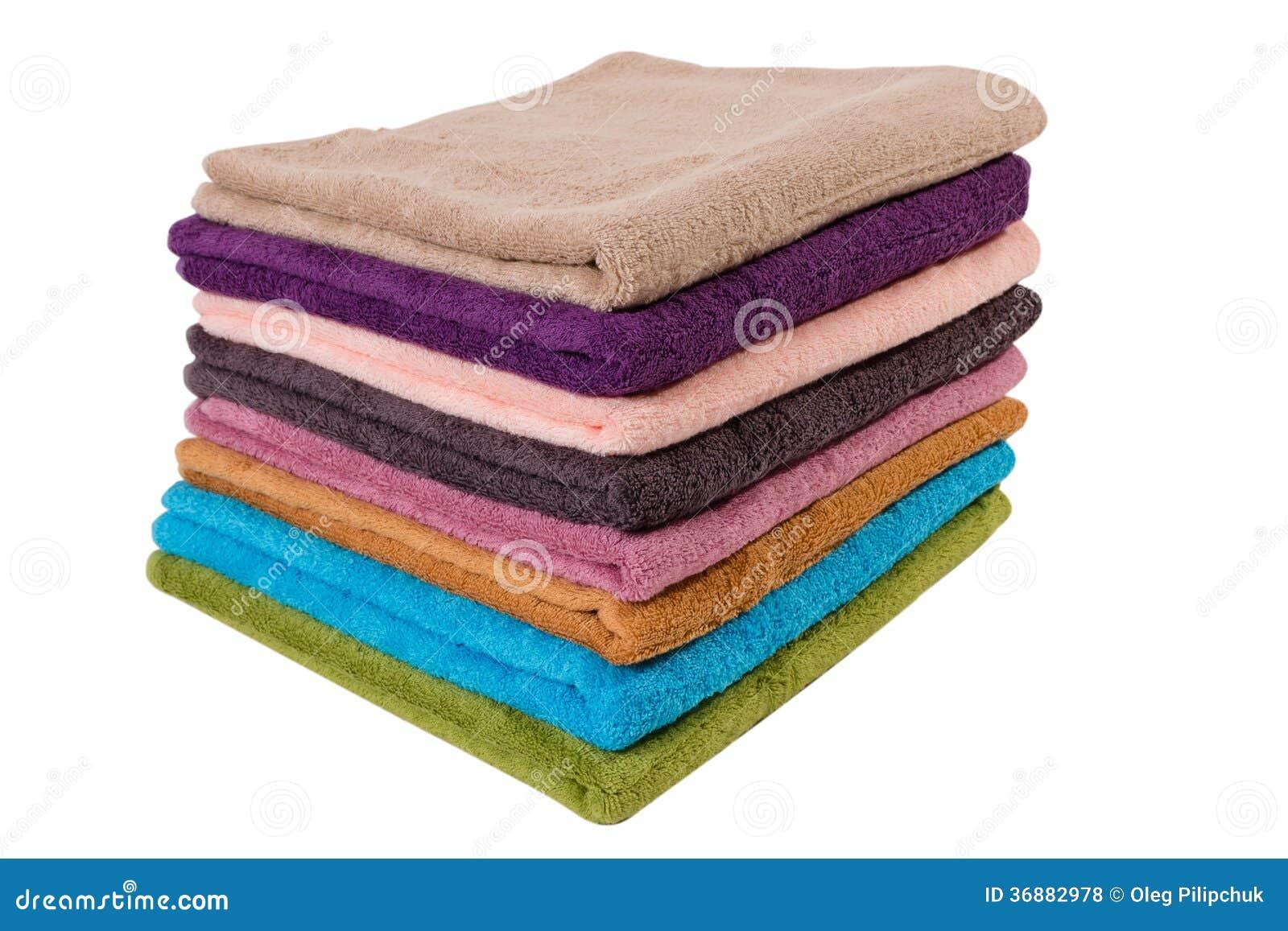 Download Asciugamani su bianco fotografia stock. Immagine di modello - 36882978