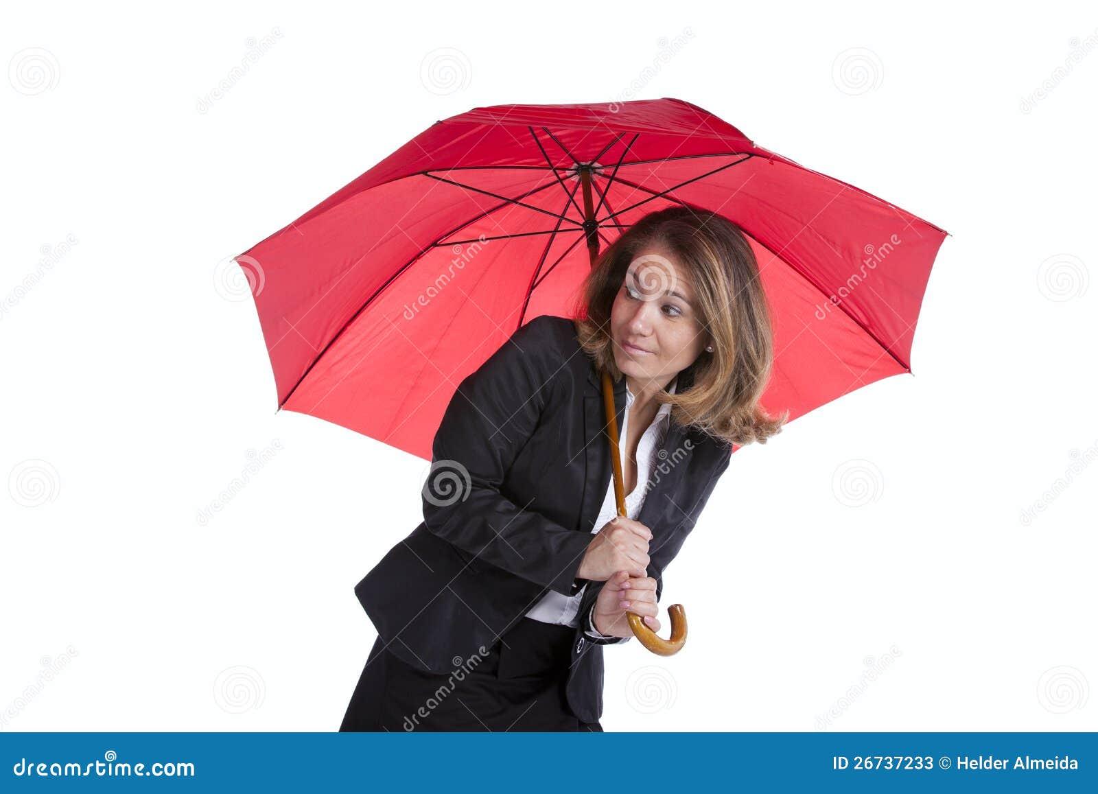 Asekuracyjny bizneswoman