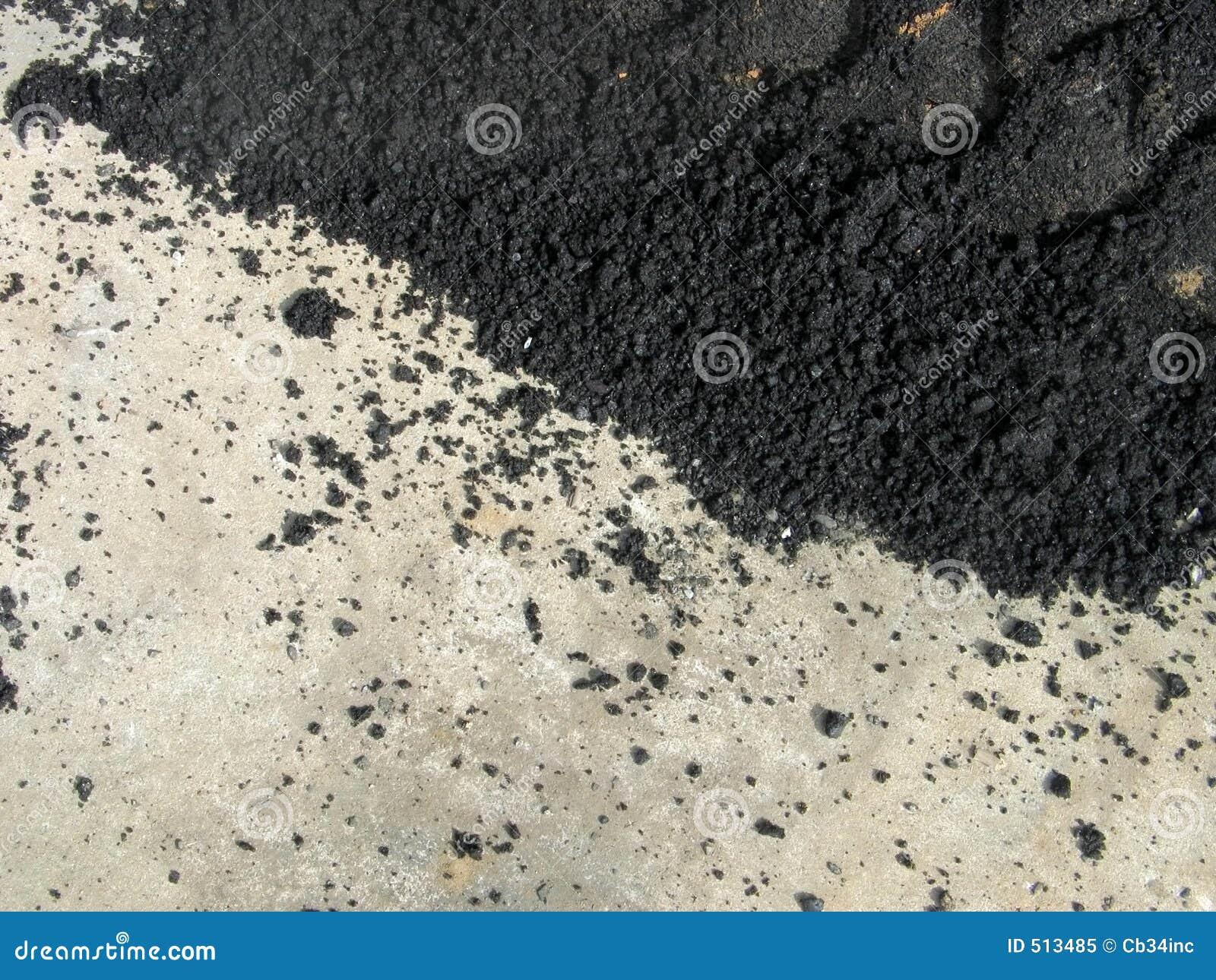 Asfalto e cimento