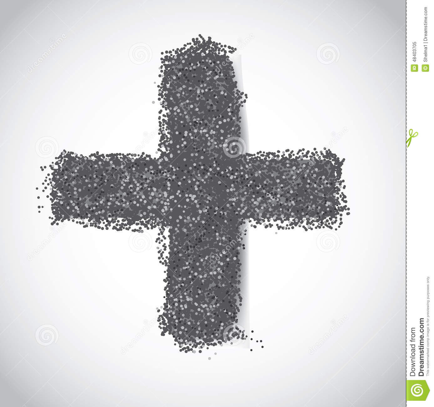 Ash wednesday cross of ashes stock vector image 48403705 ash wednesday cross of ashes buycottarizona